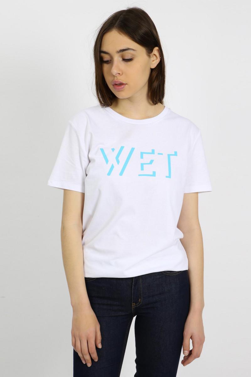 Wet logo t-shirt Turquoise