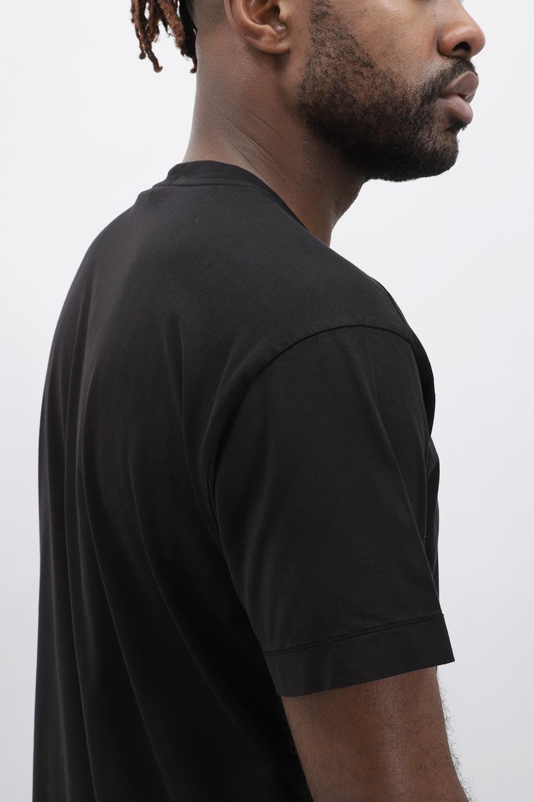 STONE ISLAND / 24113 logo t shirt v0029 Nero