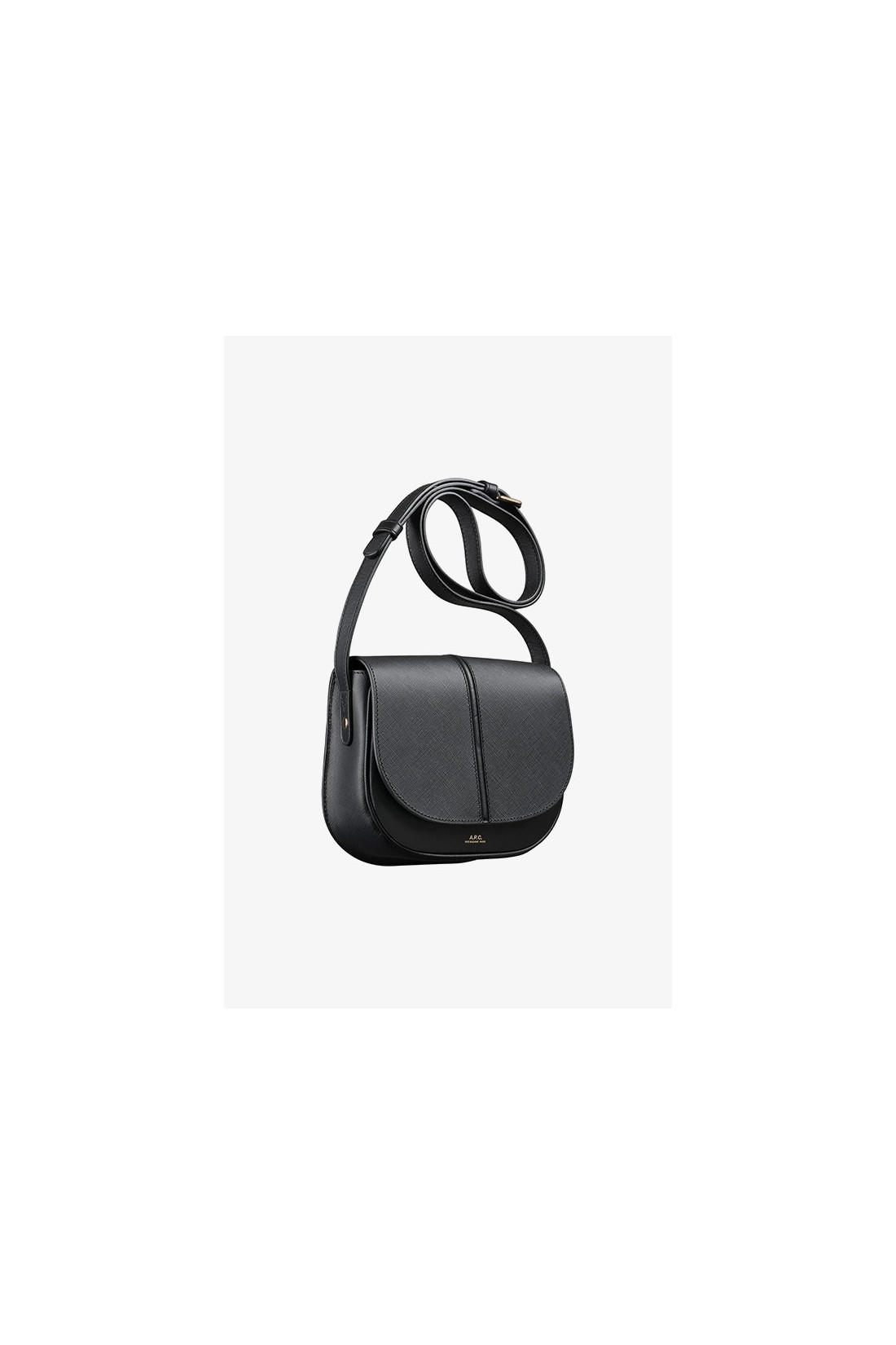 A.P.C. FOR WOMAN / Sac betty cuir embosse Noir