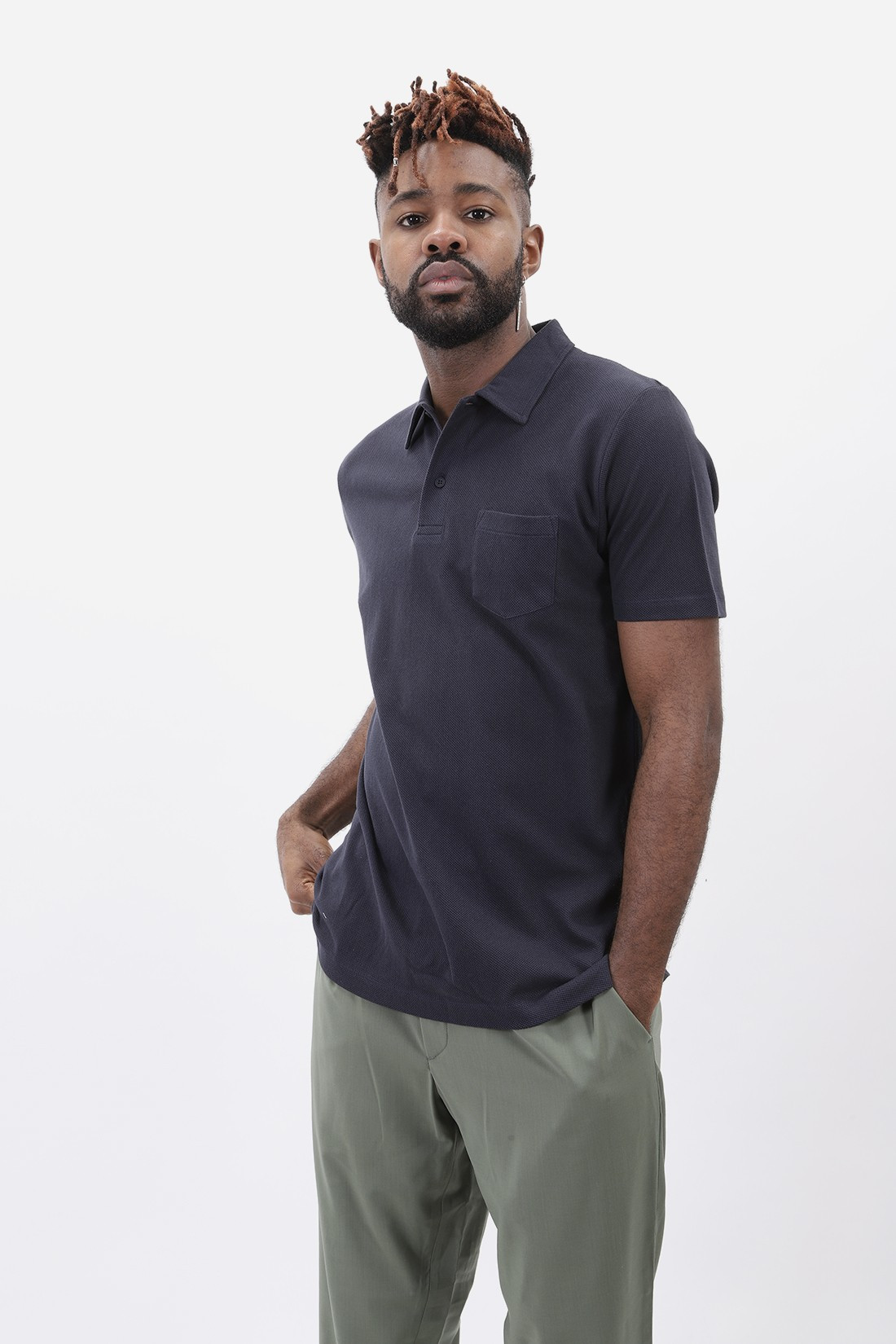 SUNSPEL / Short sleeve riviera polo Navy