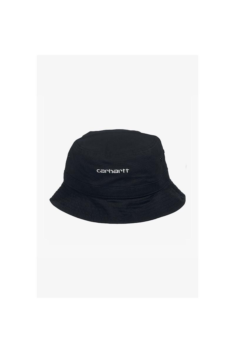 Script bucket hat Black