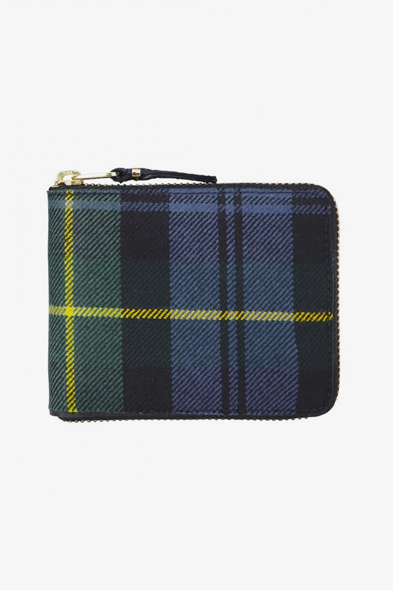 Cdg wallet tartan sa7100tp Green