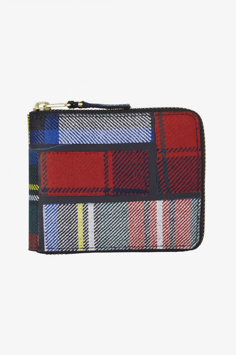 Cdg wallet tartan sa7100tp Red