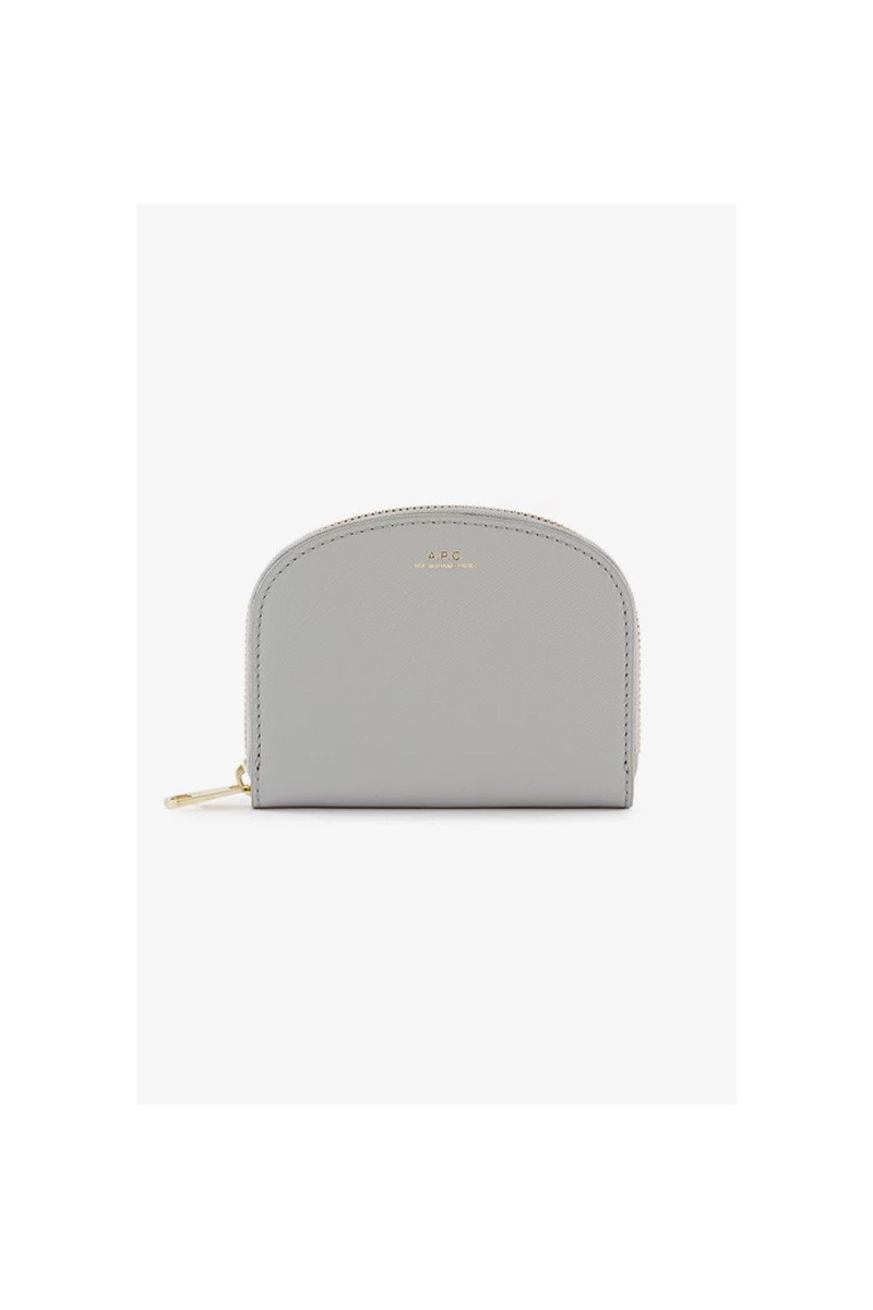 Compact demi-lune embosse Gris clair