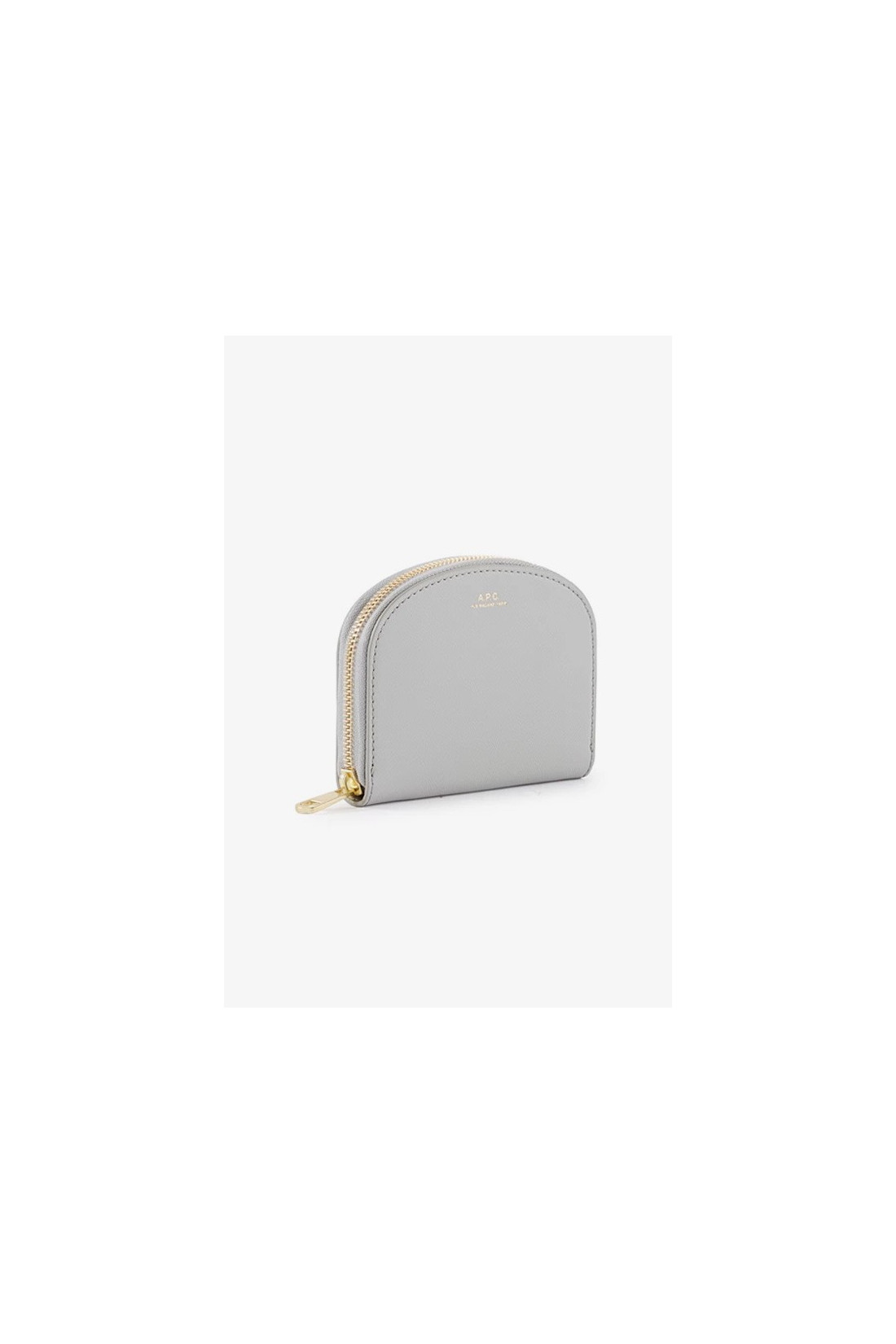 A.P.C. FOR WOMAN / Compact demi-lune embosse Gris clair
