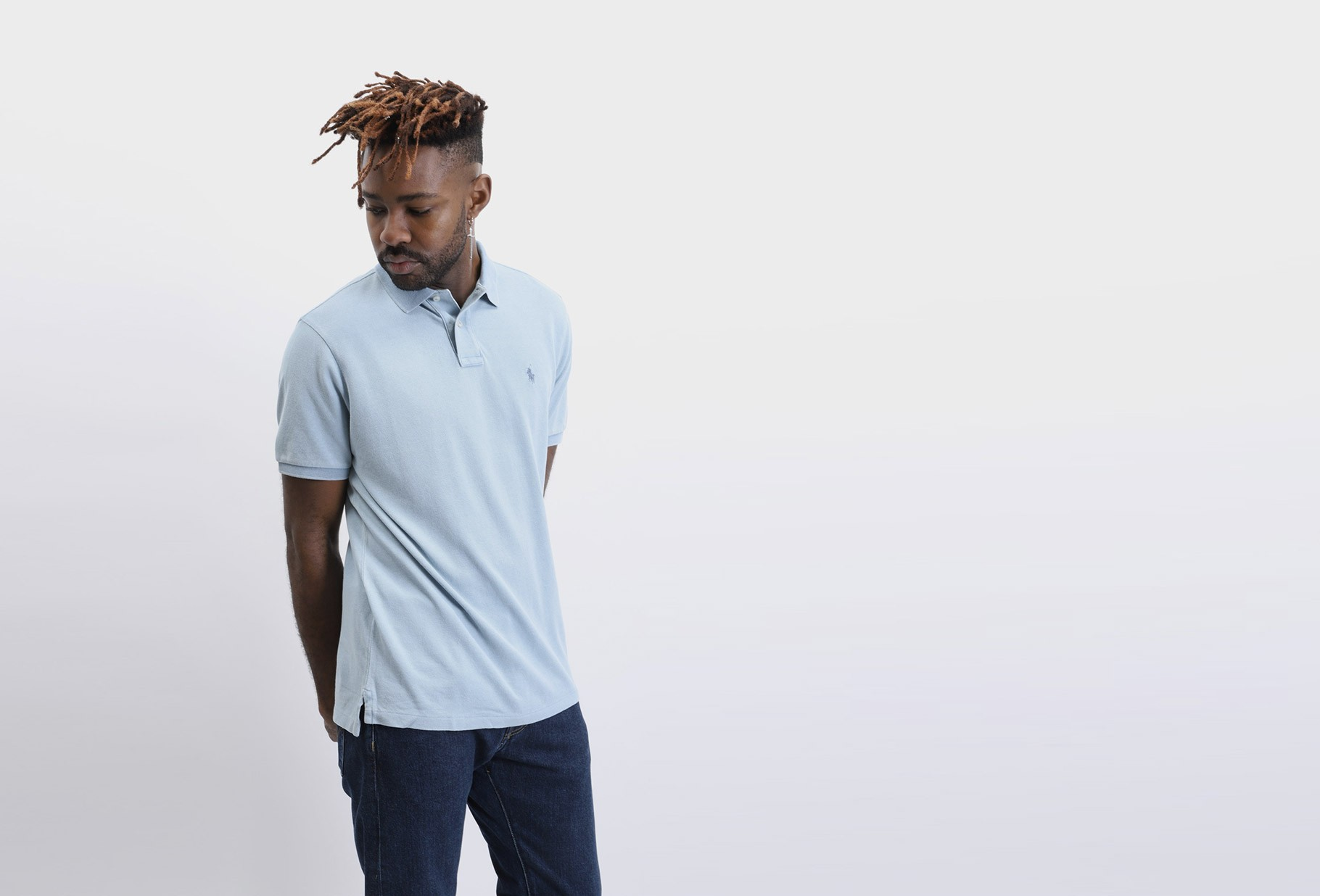 POLO RALPH LAUREN / Custom fit classic polo Washed blue