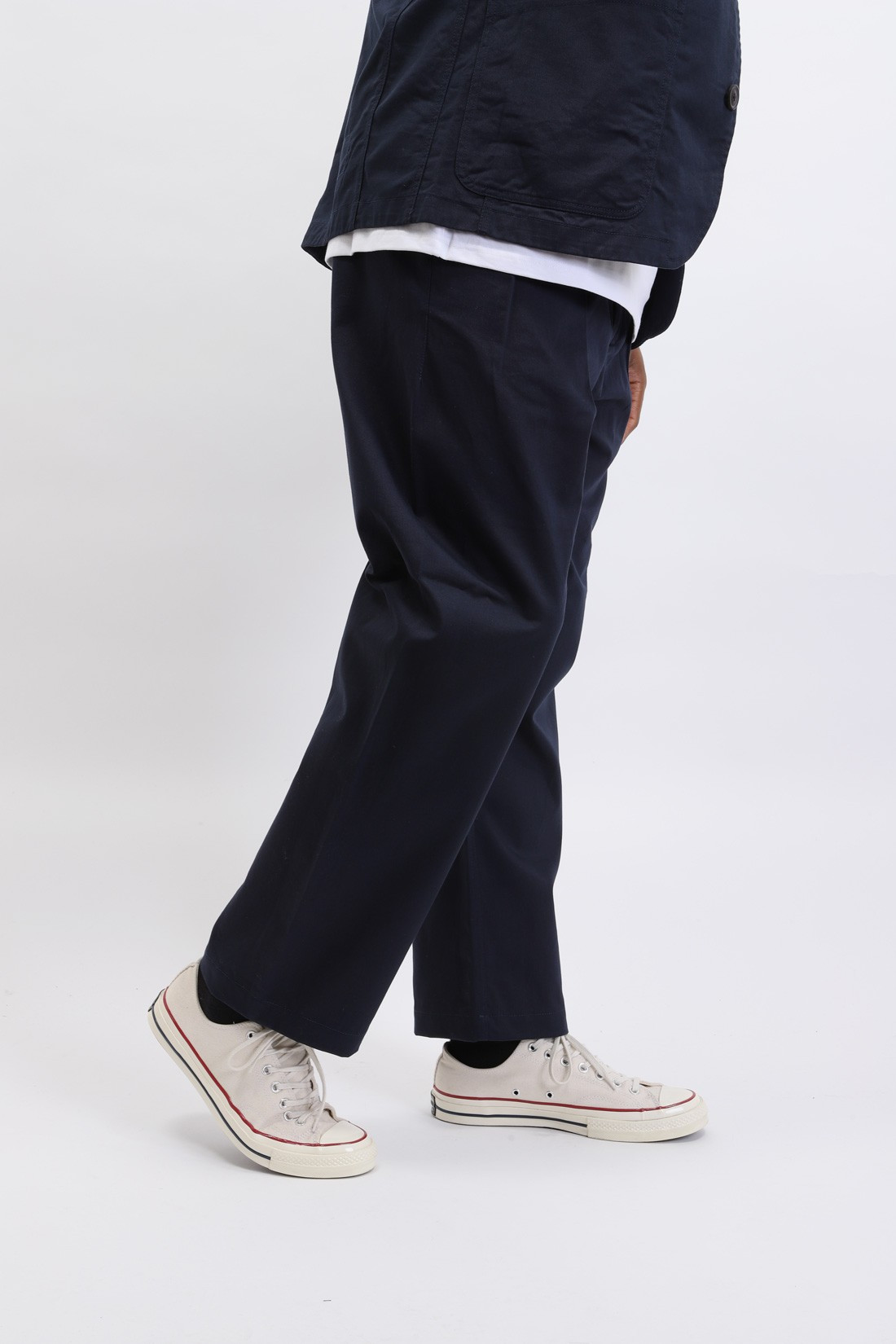 UNIVERSAL WORKS / Double pleat pant twill Navy