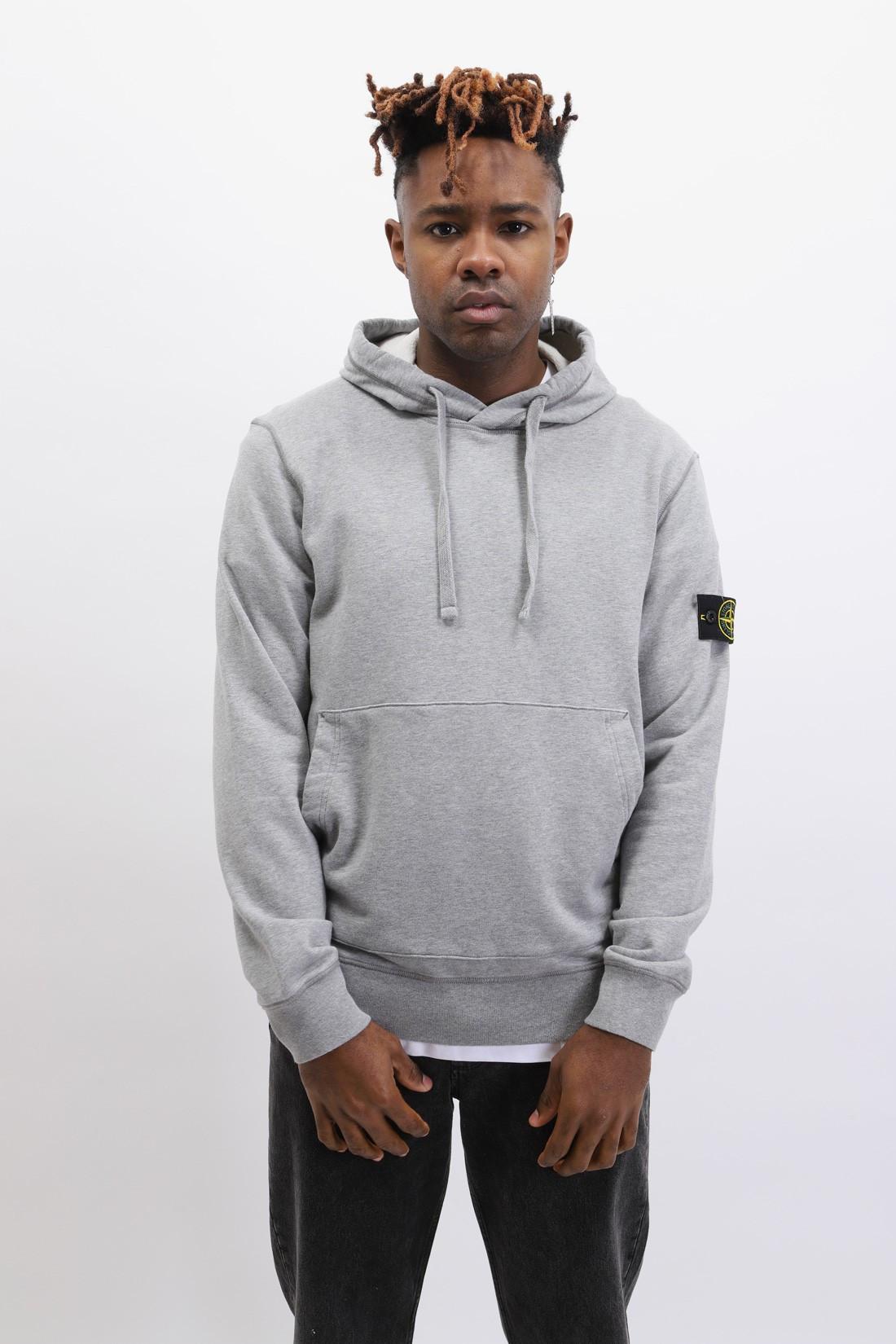 STONE ISLAND / 64151 hooded sweater v0m64 Polvere melange