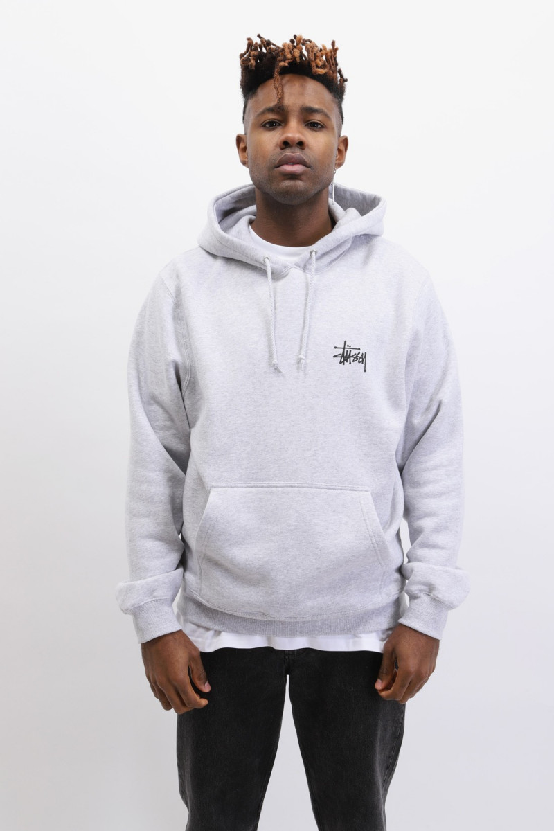 Basic stussy hood Ash heather