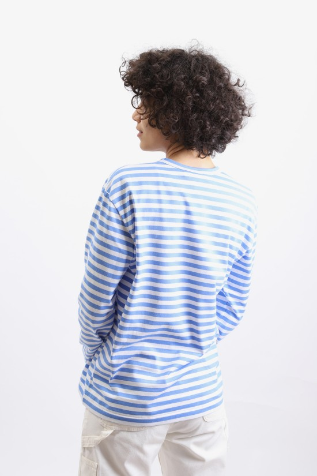 COMME DES GARÇONS PLAY / Play striped t-shirt Blue
