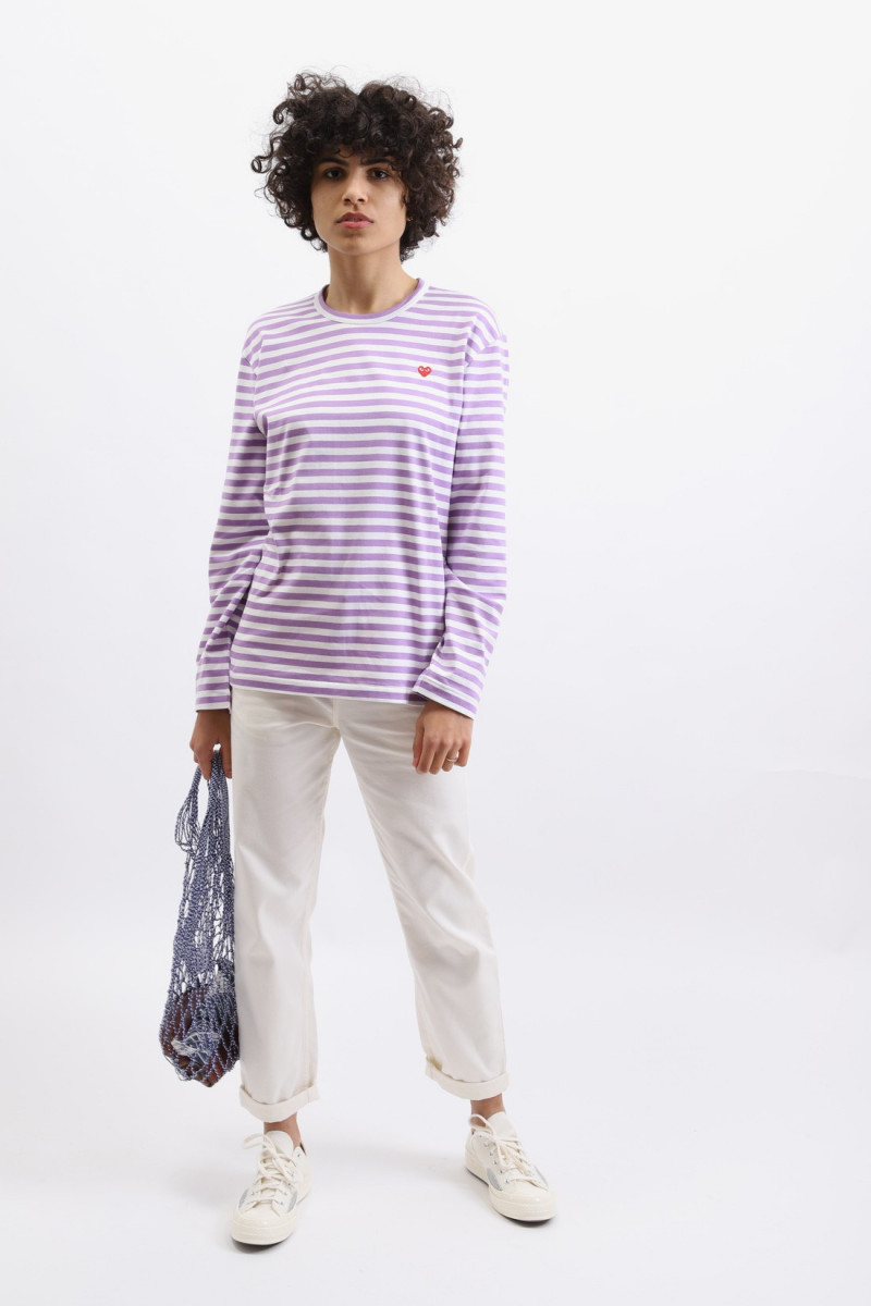 Play striped t-shirt Purple