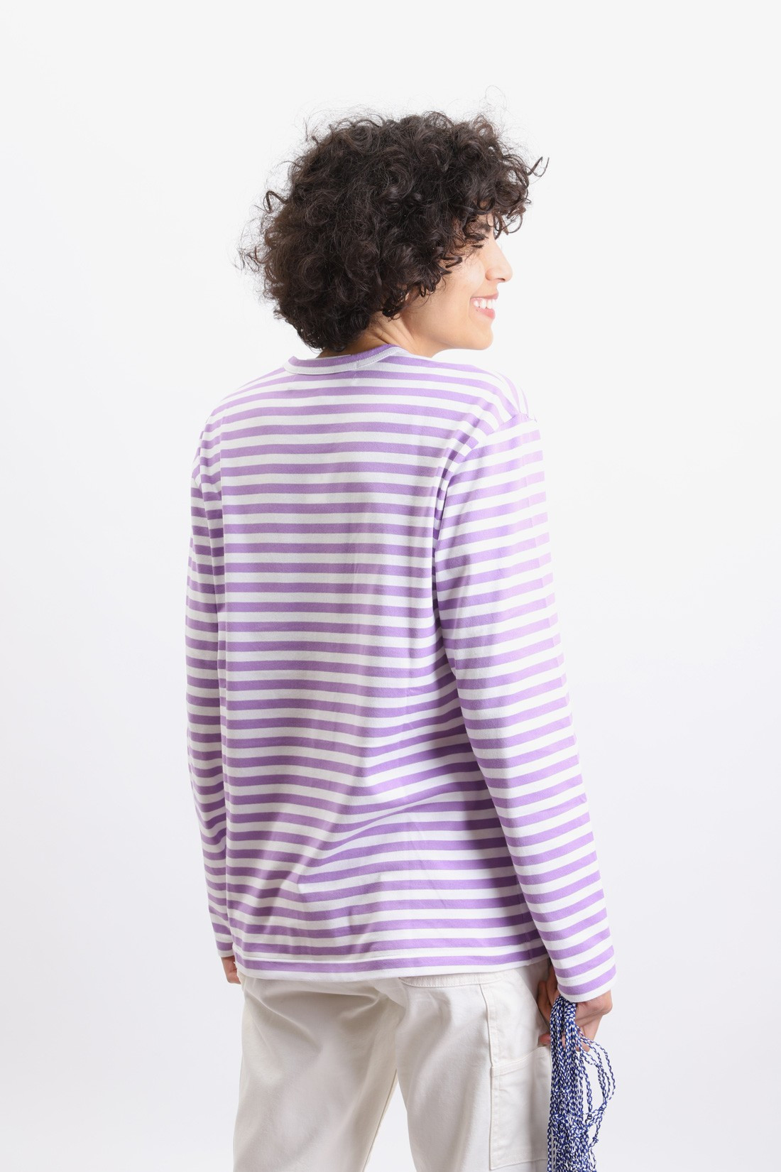 COMME DES GARÇONS PLAY / Play striped t-shirt Purple