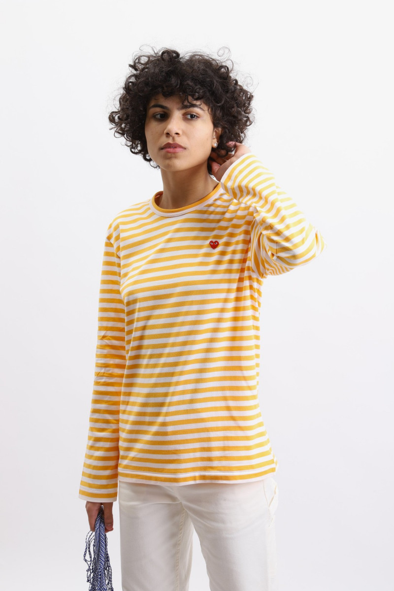 Play striped t-shirt Yellow