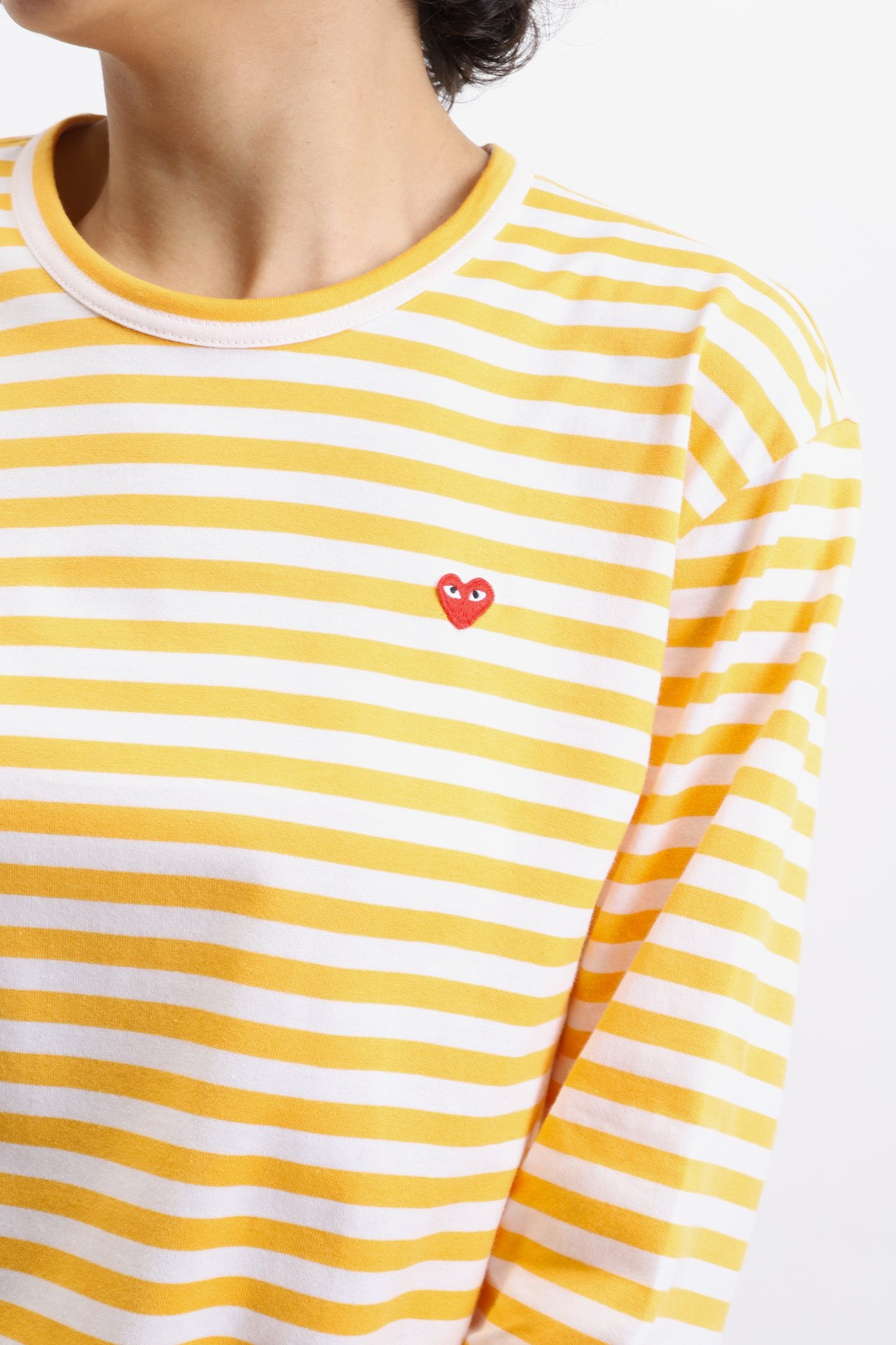 COMME DES GARÇONS PLAY / Play striped t-shirt Yellow