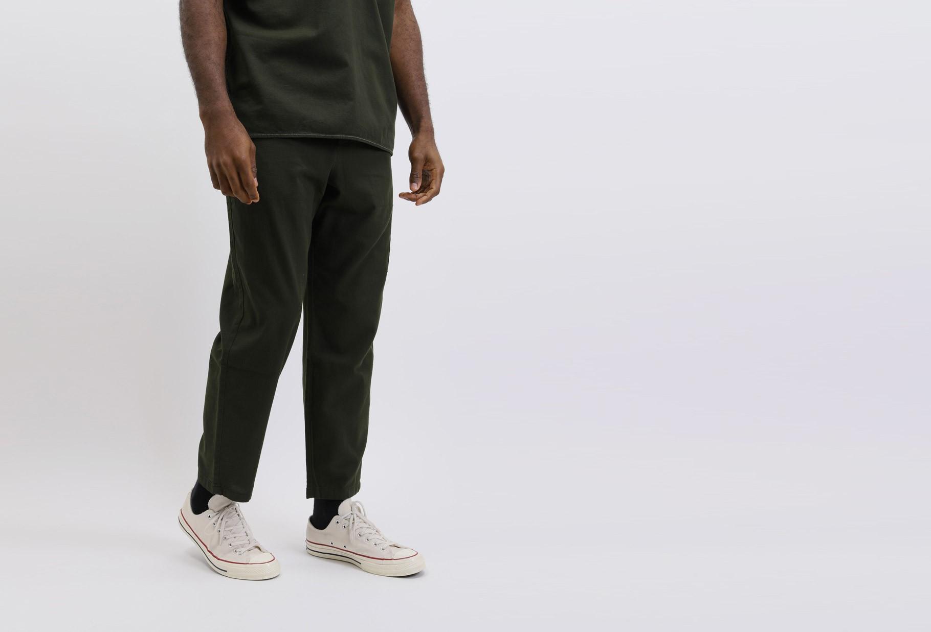 OLIVER SPENCER / Judo pant cotton Forest green
