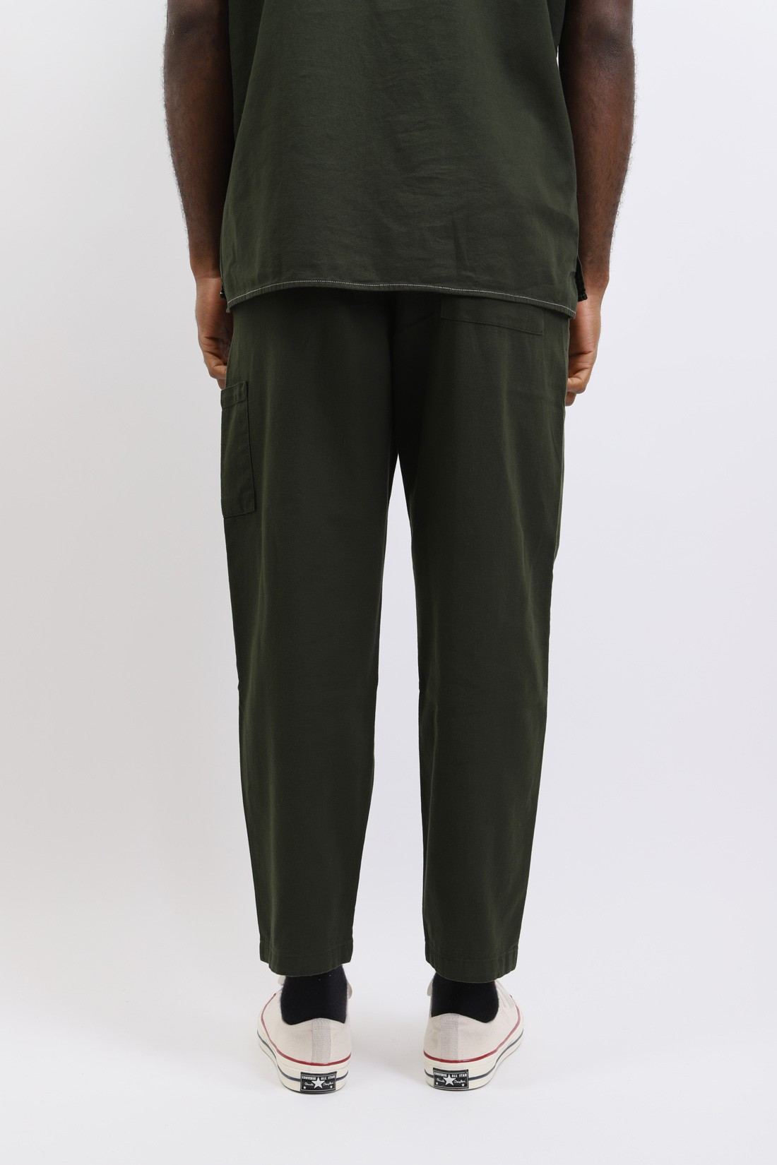 OLIVER SPENCER / Judo pant cotton Forest green