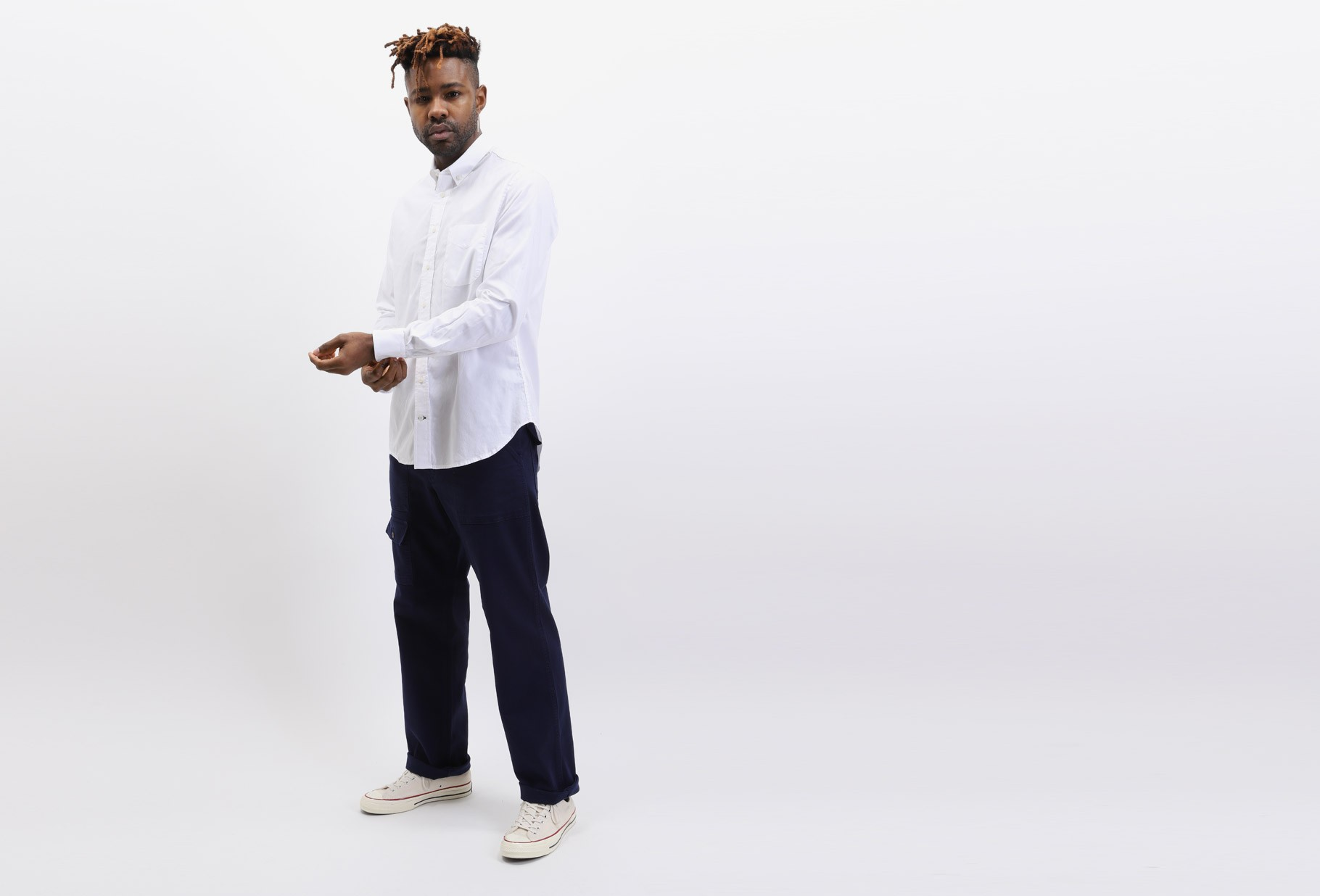 GITMAN / Zephyr oxford shirt White