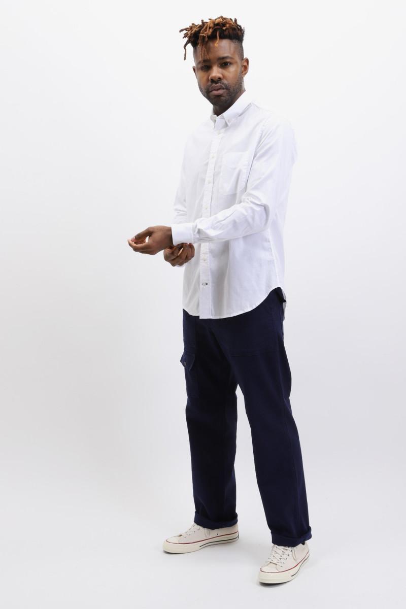 Button down shirt oxford White