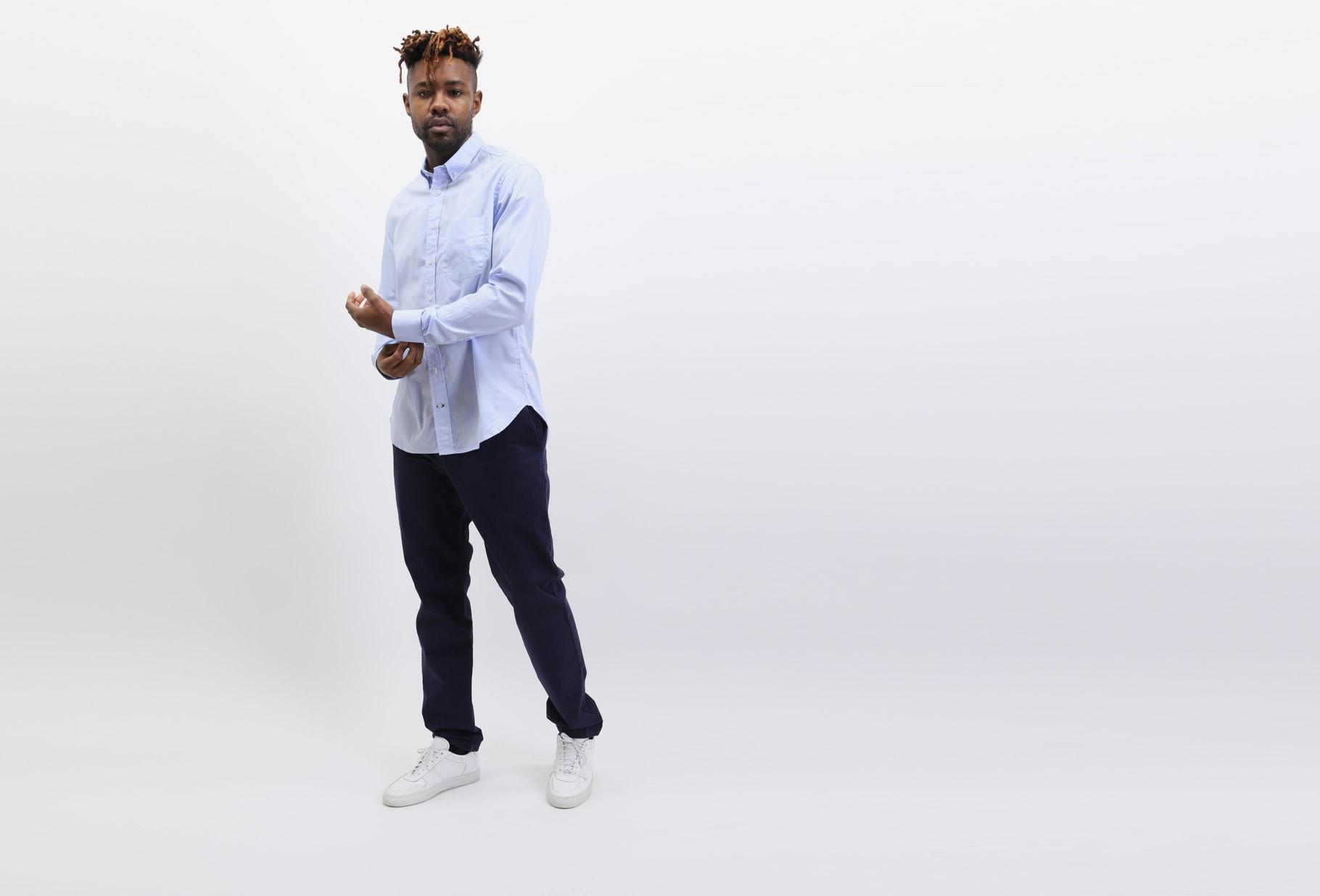 GITMAN / Zephyr oxford shirt Blue