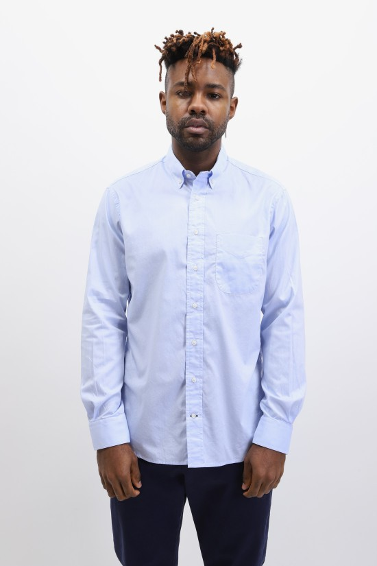 GITMAN / Button down shirt oxford Blue