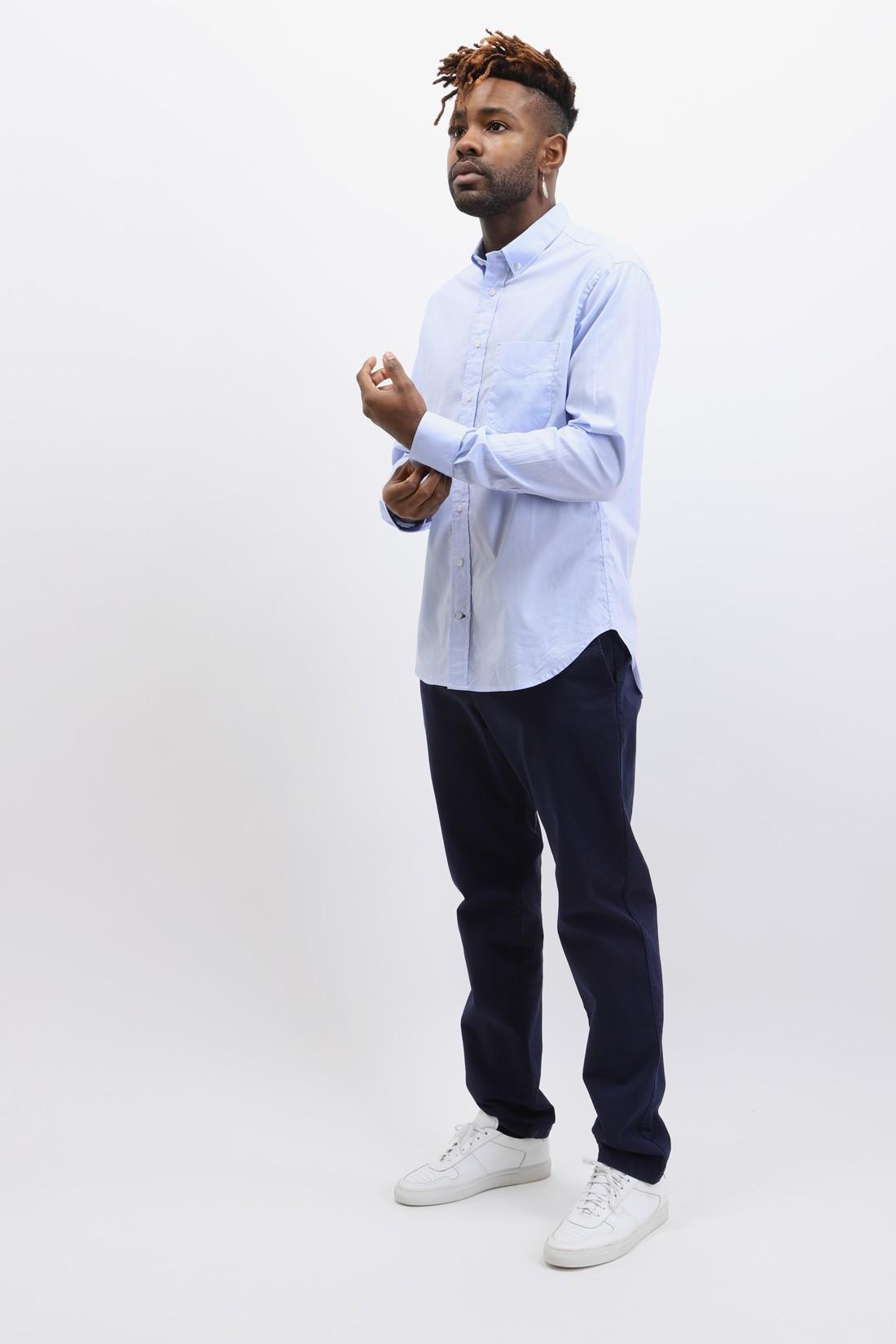 GITMAN / Button down shirt oxford Blue