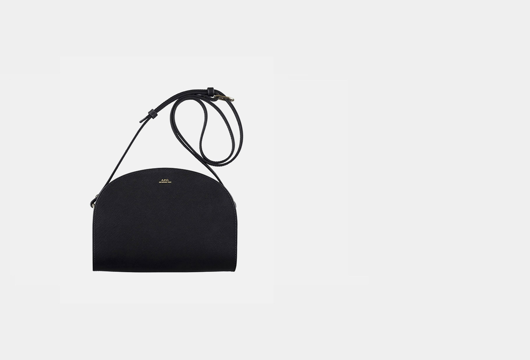 A.P.C. FOR WOMAN / Sac demi-lune embosse Noir
