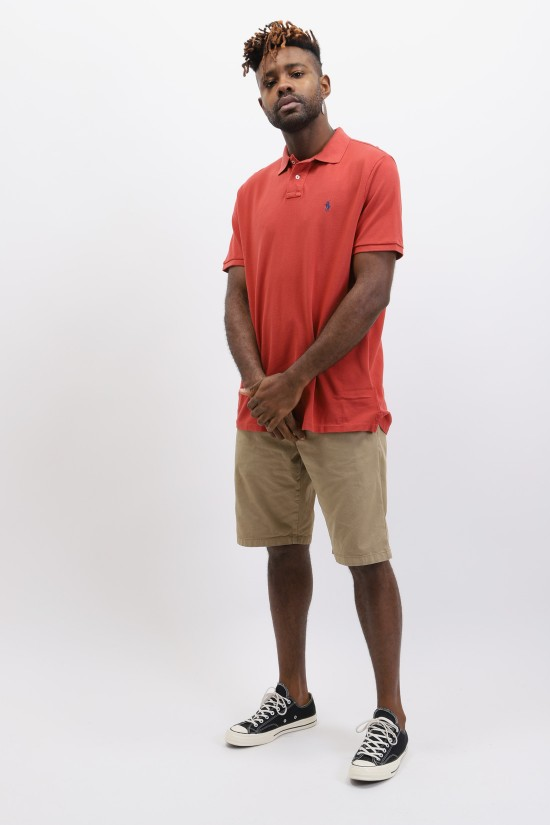 POLO RALPH LAUREN / Custom fit classic polo washed Brique