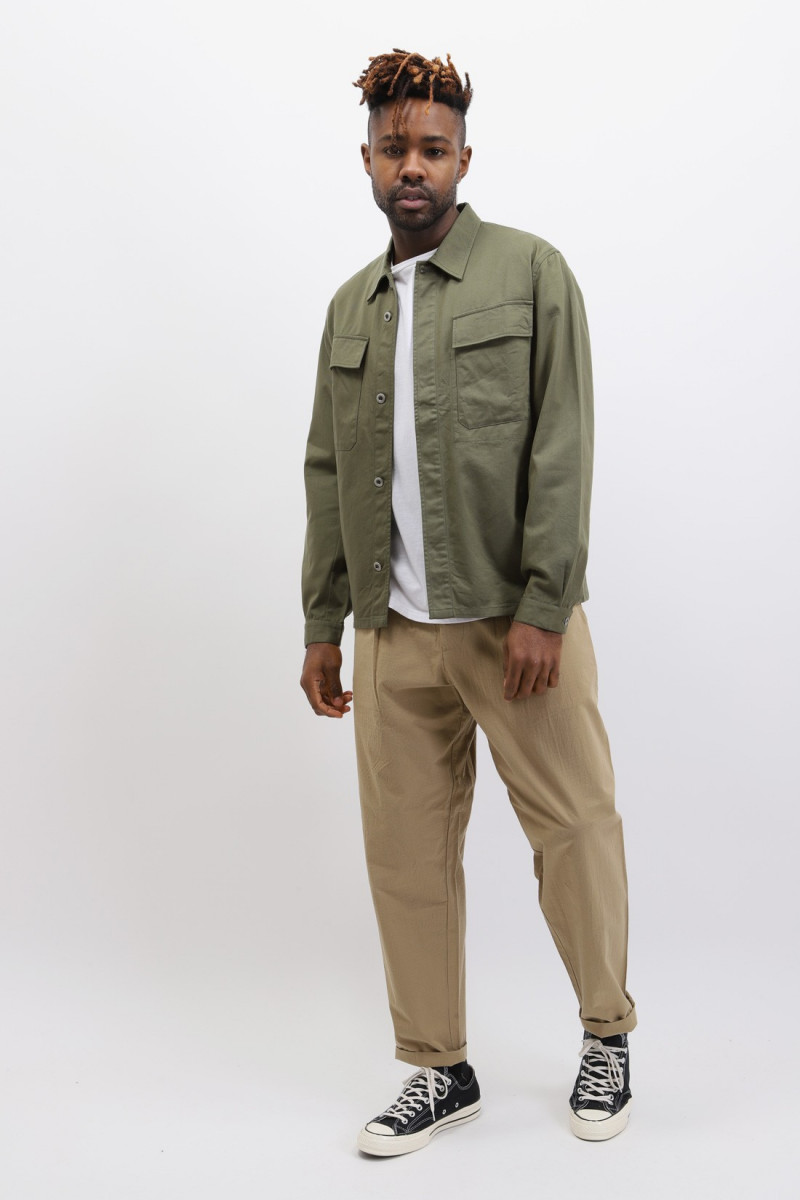 Mw chore overshirt twill Light olive