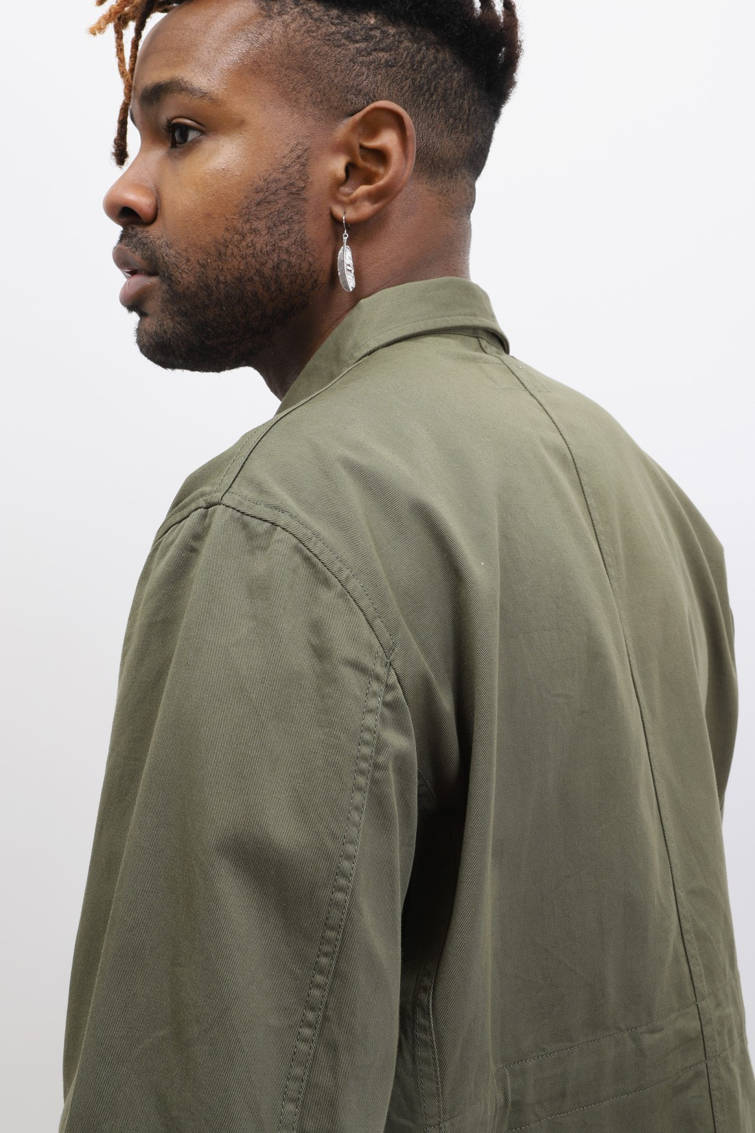 UNIVERSAL WORKS / Mw chore overshirt twill Light olive