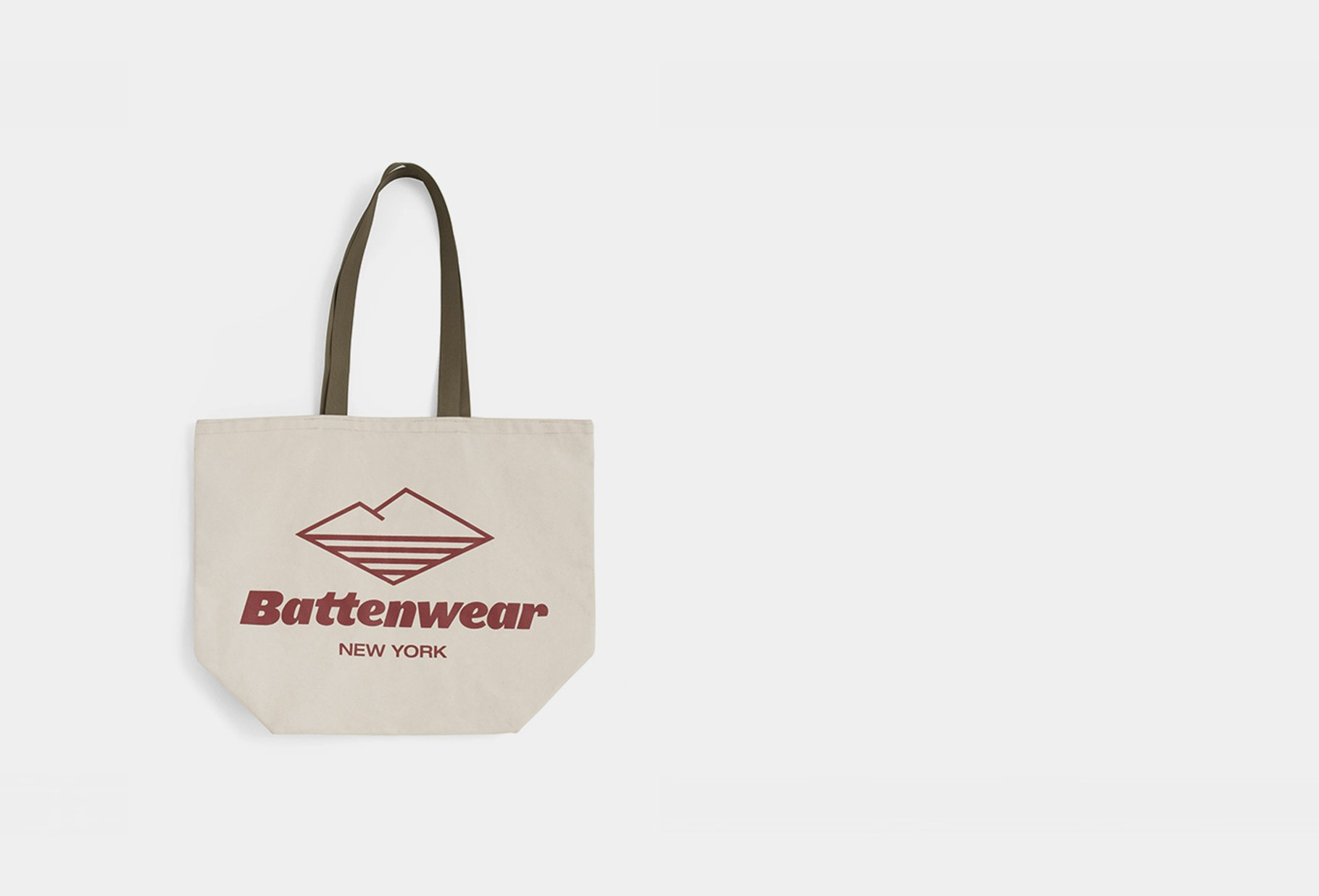 BATTENWEAR / Logo canvas tote Natural
