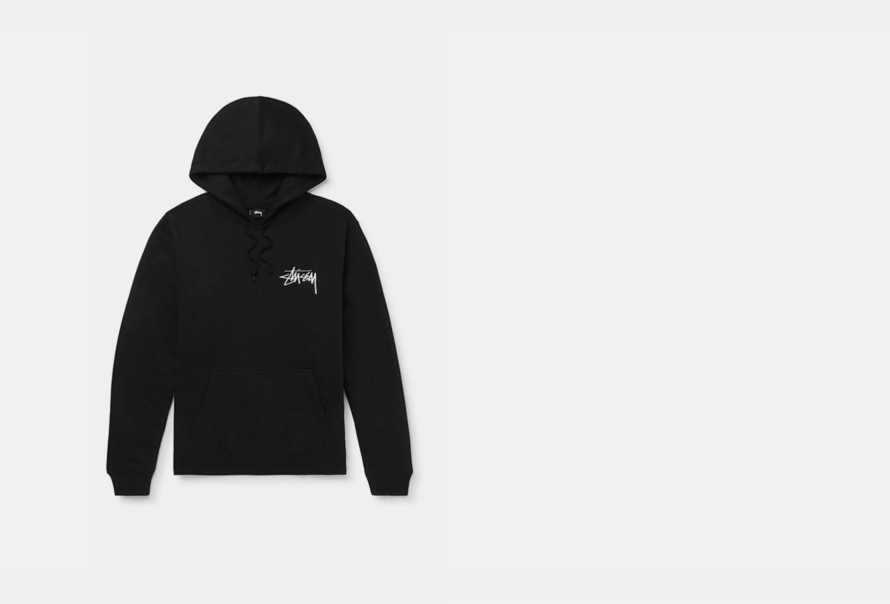 STUSSY / Stussy logo hood Black