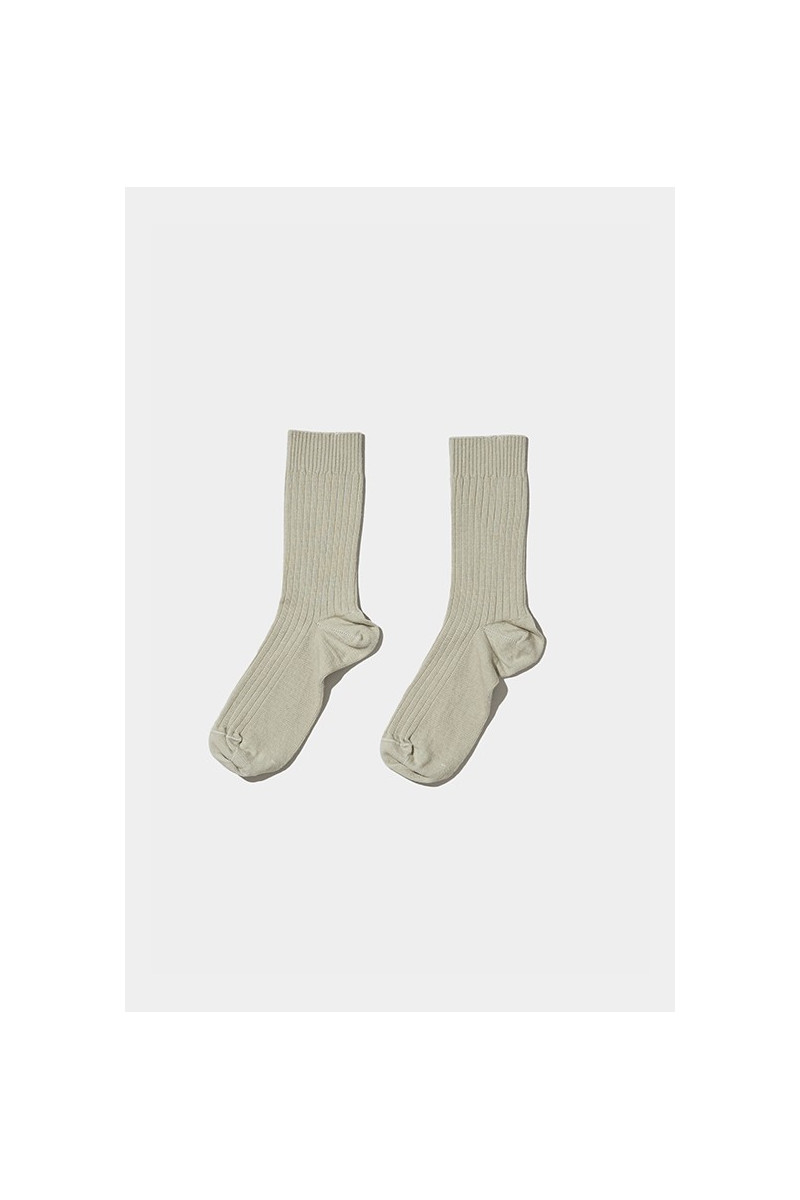 Rib ankle socks Tao green