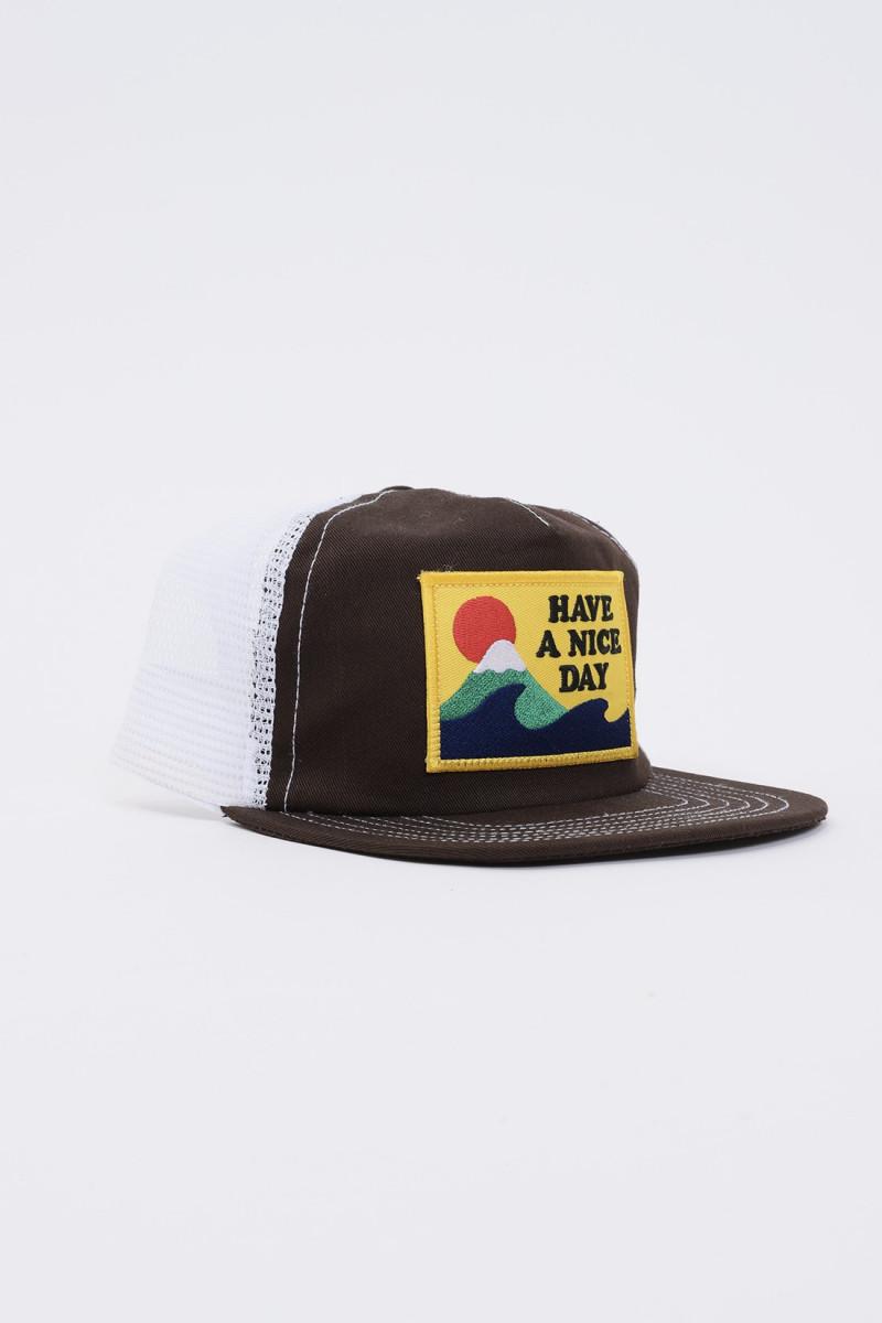 Club cap Brown x tan