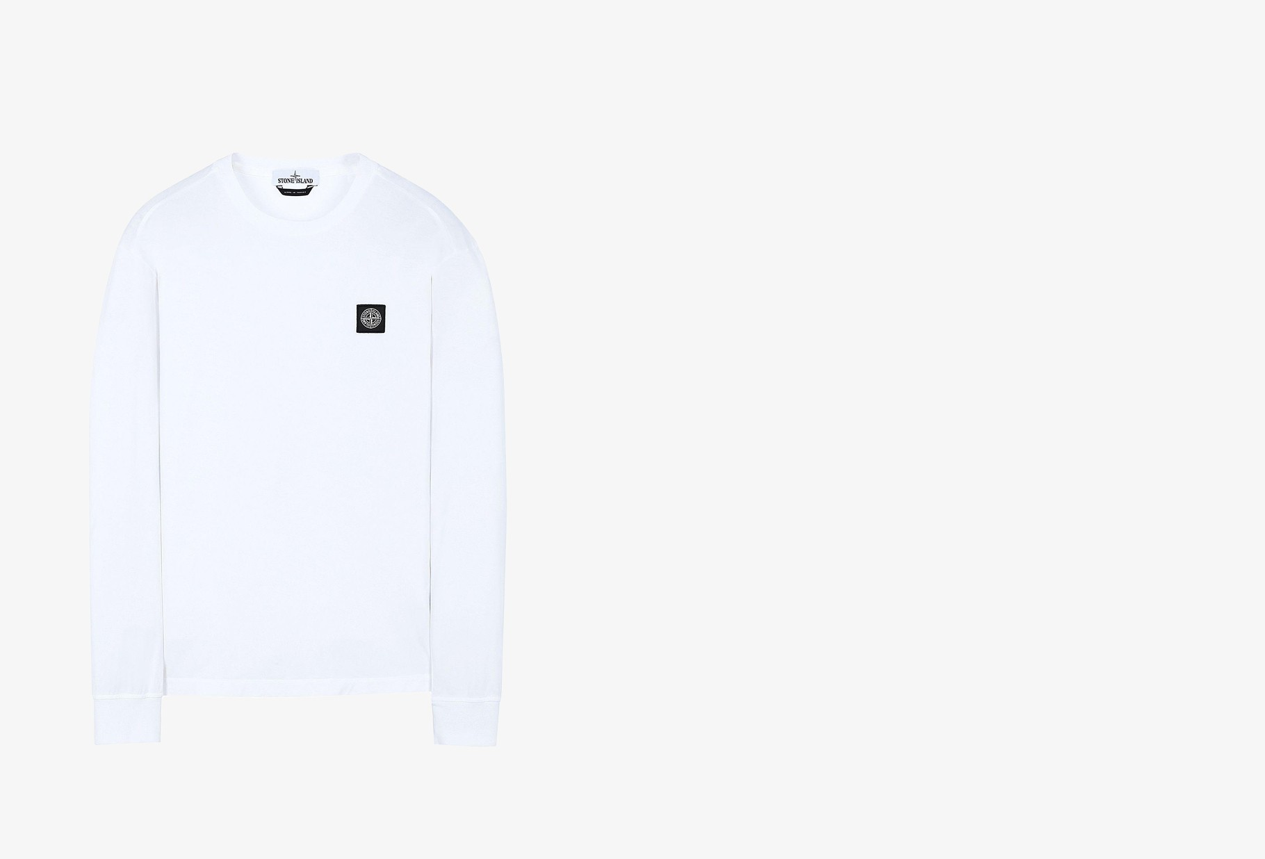 STONE ISLAND / 22713 ls t shirt v0093 Avorio