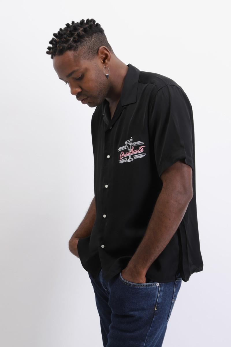 Gitman x graduate s/s shirt Black
