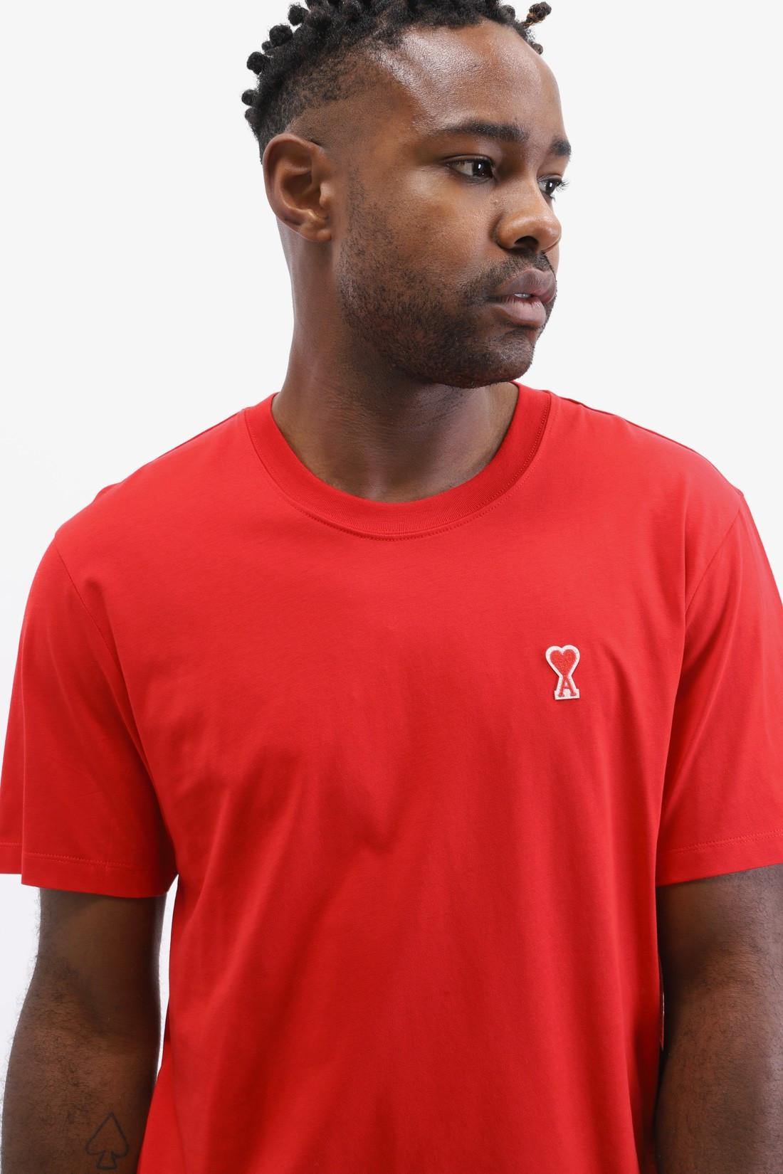AMI / T-shirt ami de coeur Rouge