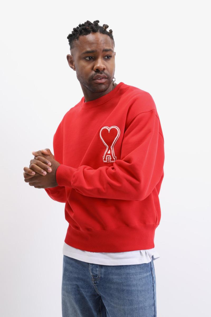 Sweatshirt ami de coeur Rouge