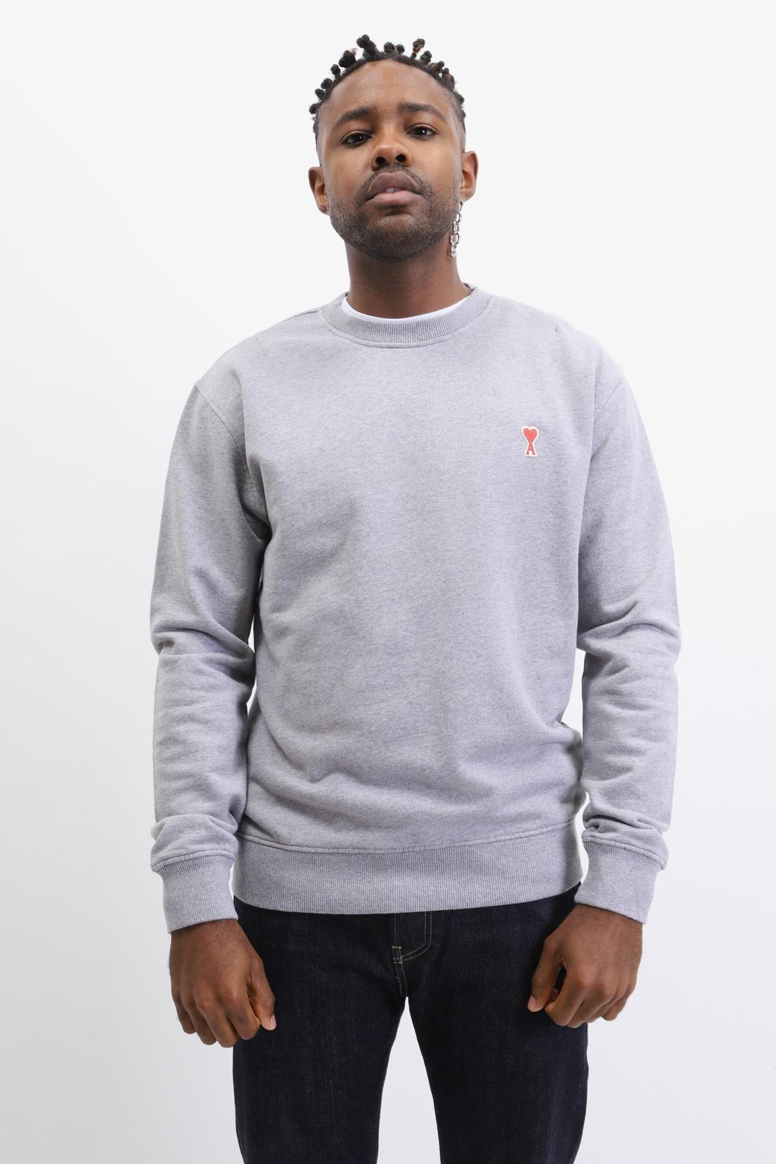 AMI / Sweatshirt ami de coeur Gris chine