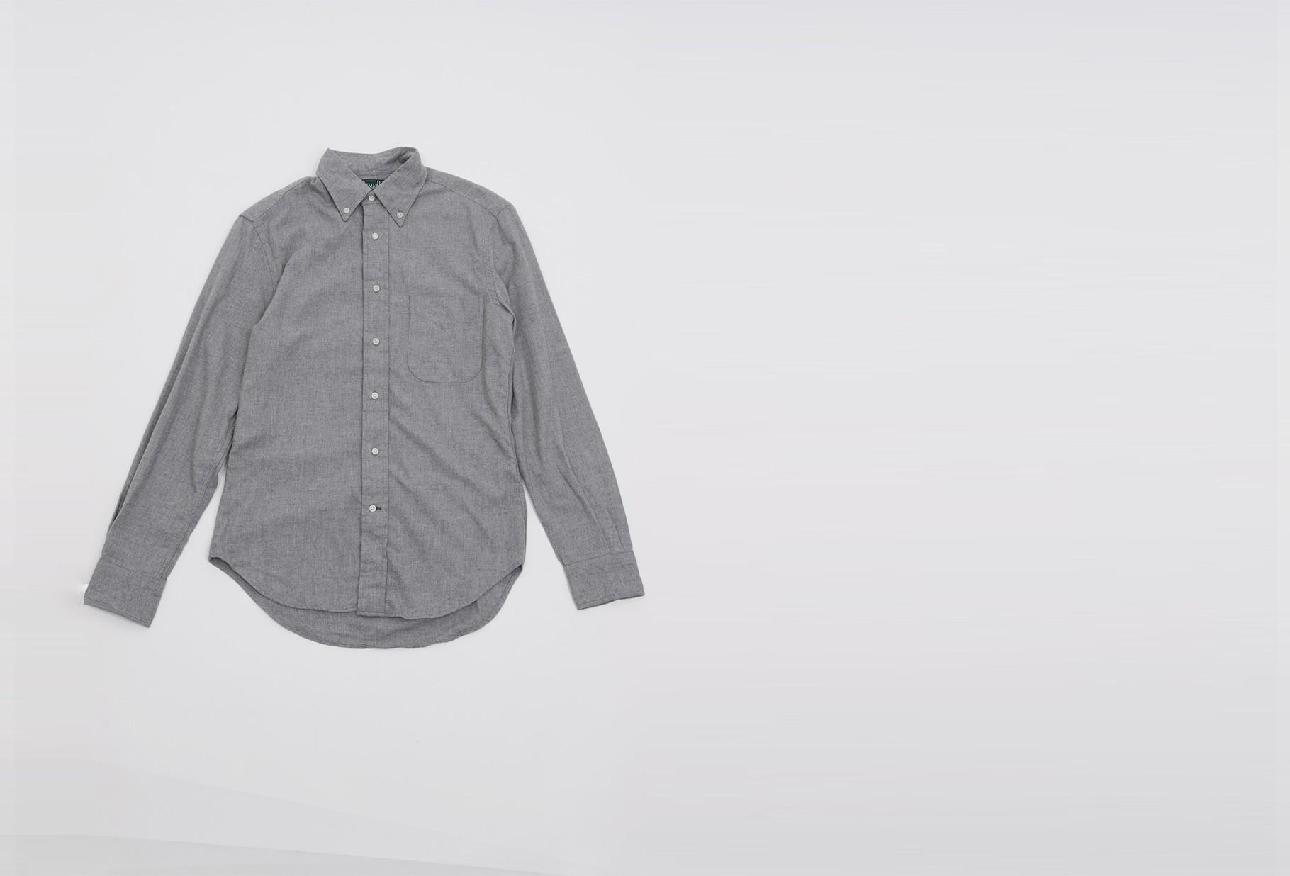 GITMAN / Classic flannel shirt Light grey