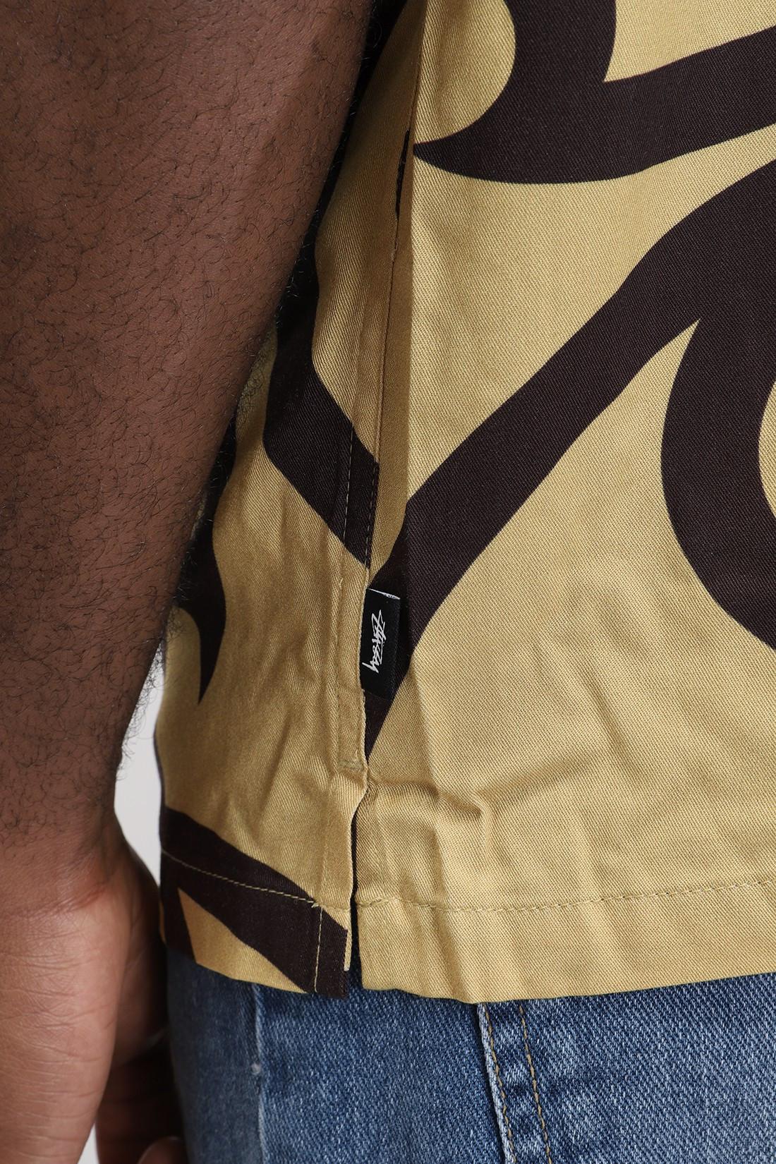 STUSSY / Tribal pattern shirt Mustard