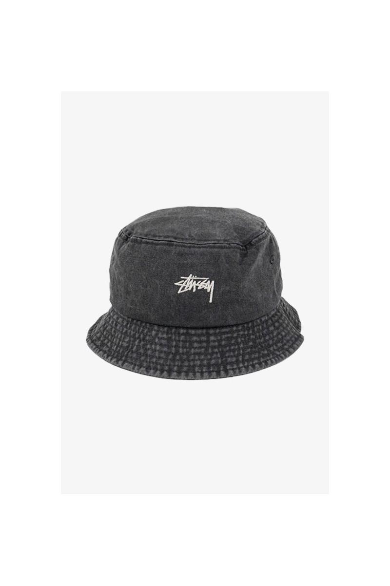 Stock washed bucket hat Black