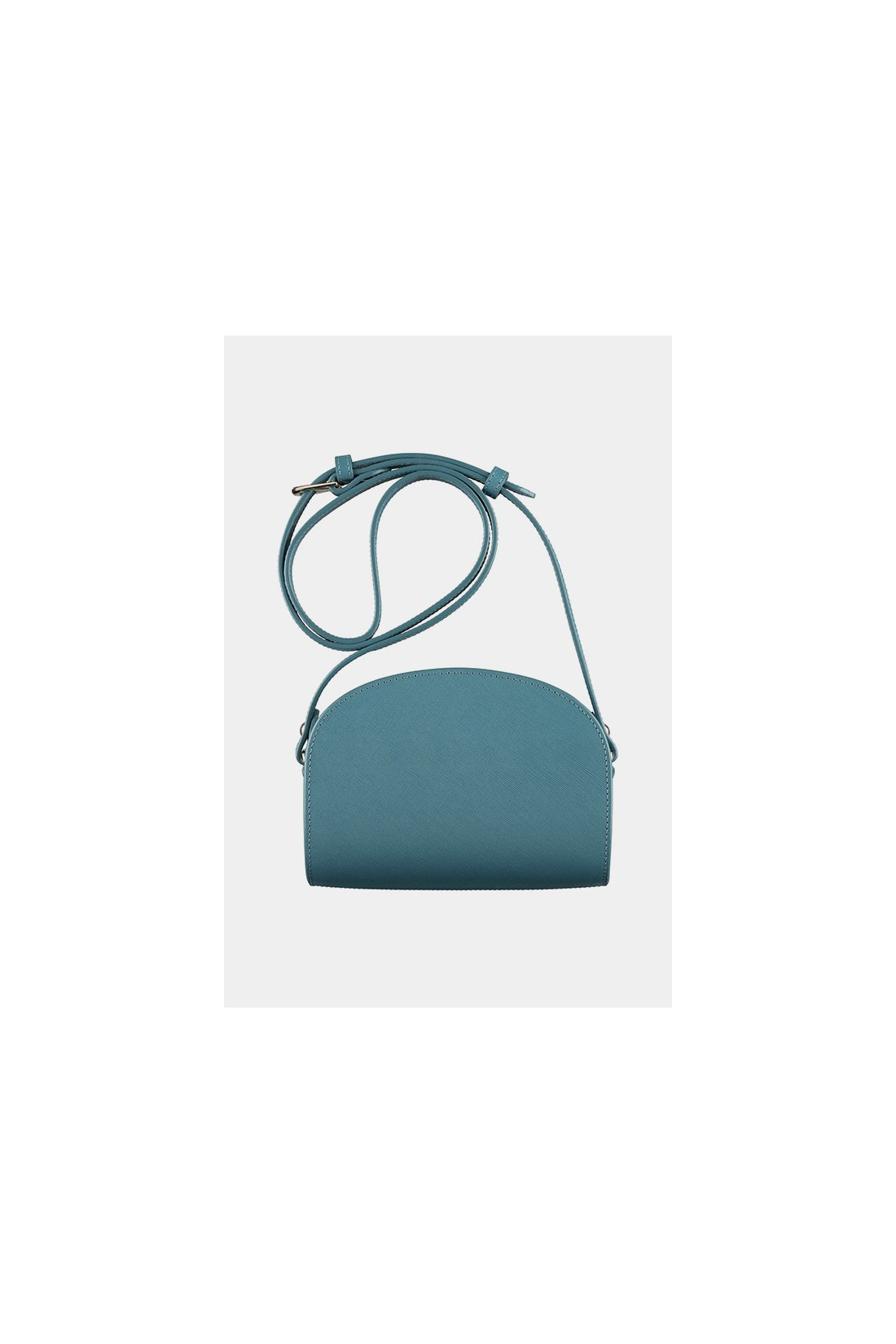 A.P.C. FOR WOMAN / Sac demi-lune embosse Bleu canard
