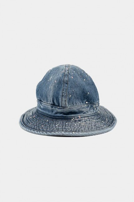 2 year wash us navy hat indigo With paint