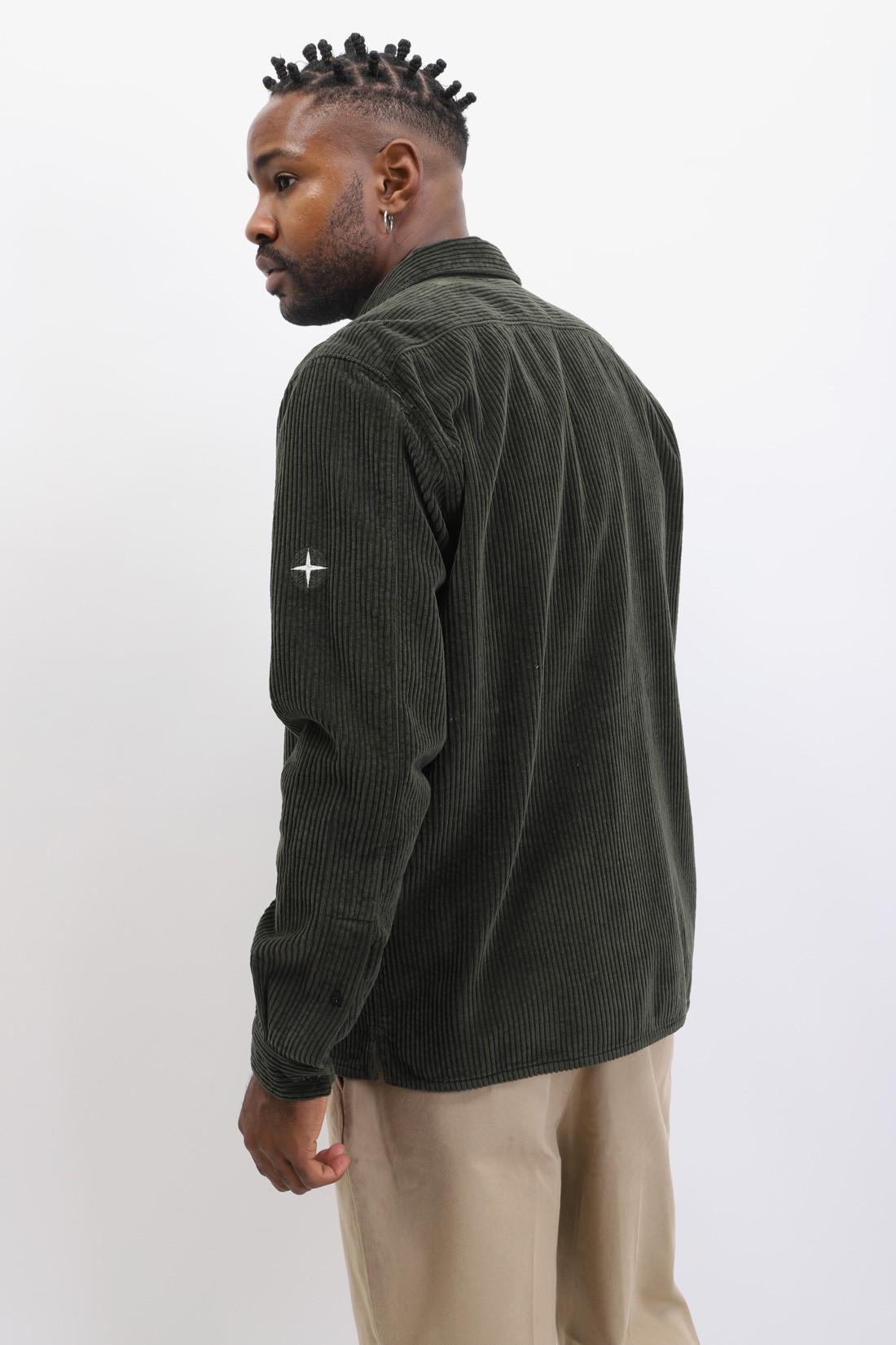 STONE ISLAND / 12111 corduroy shirt v0059 Muschio