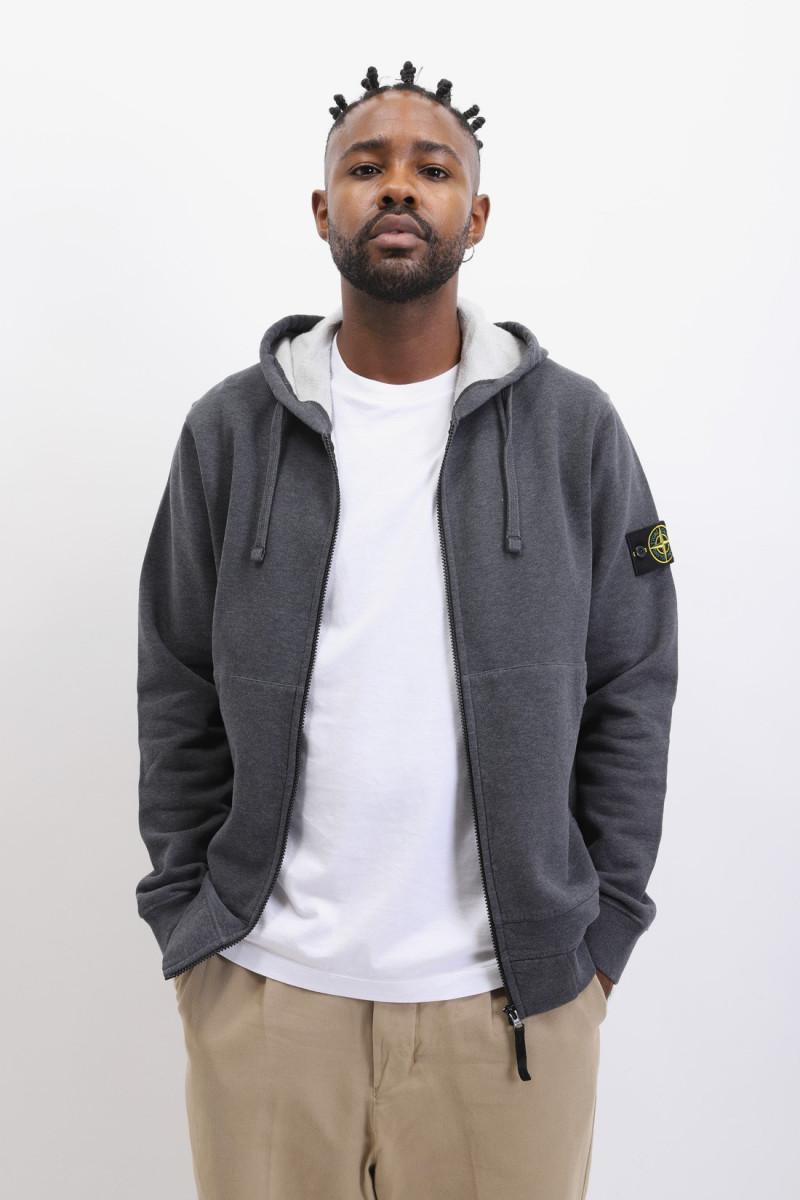 64220 hooded zip sweater v0m67 Fumo melange
