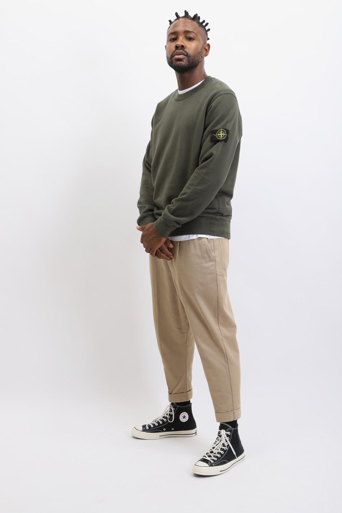 STONE ISLAND / 63020 crewneck sweater v0059 Muschio