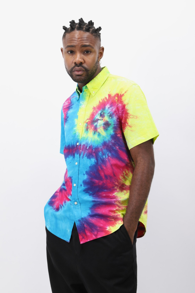 Custom fit shirt oxford Tie dye laguna