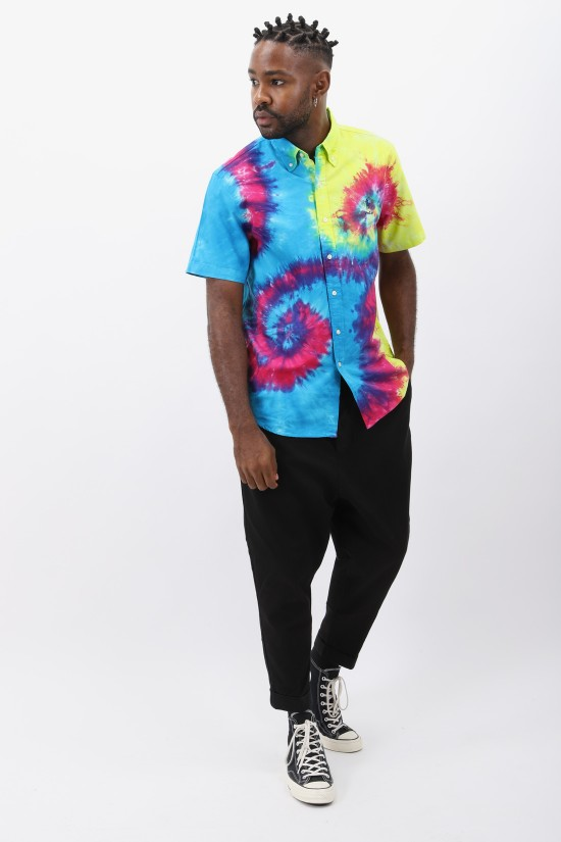 POLO RALPH LAUREN / Custom fit shirt oxford Tie dye laguna