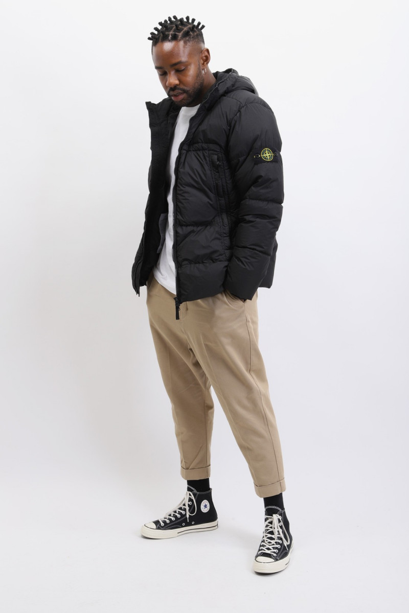 40723 crinkle reps down jacket V0029 nero