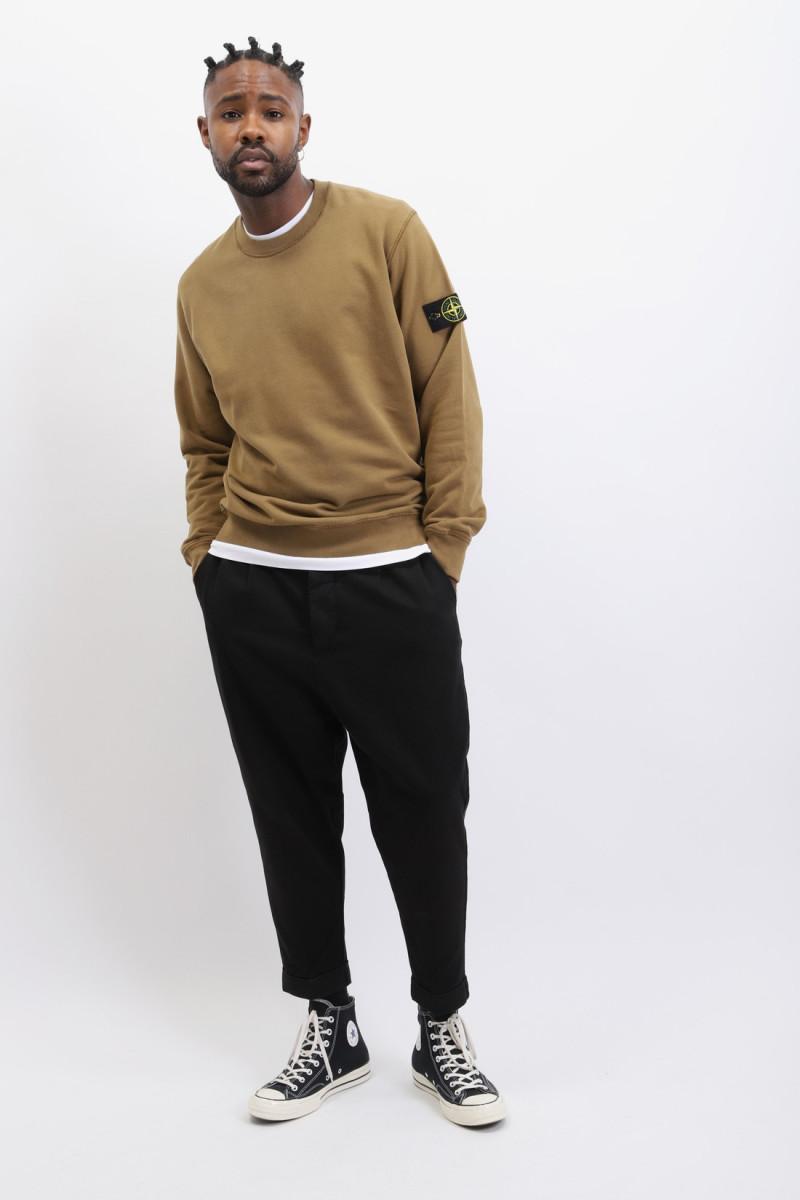 63020 crewneck sweater v0071 Tabacco